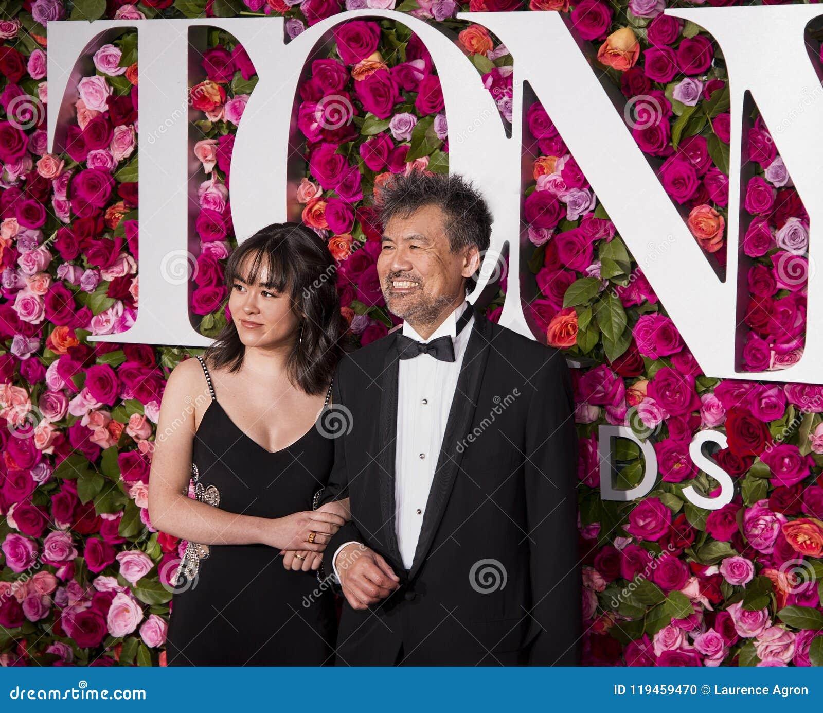 Eva y David Henry Hwang en Tony Awards 2018
