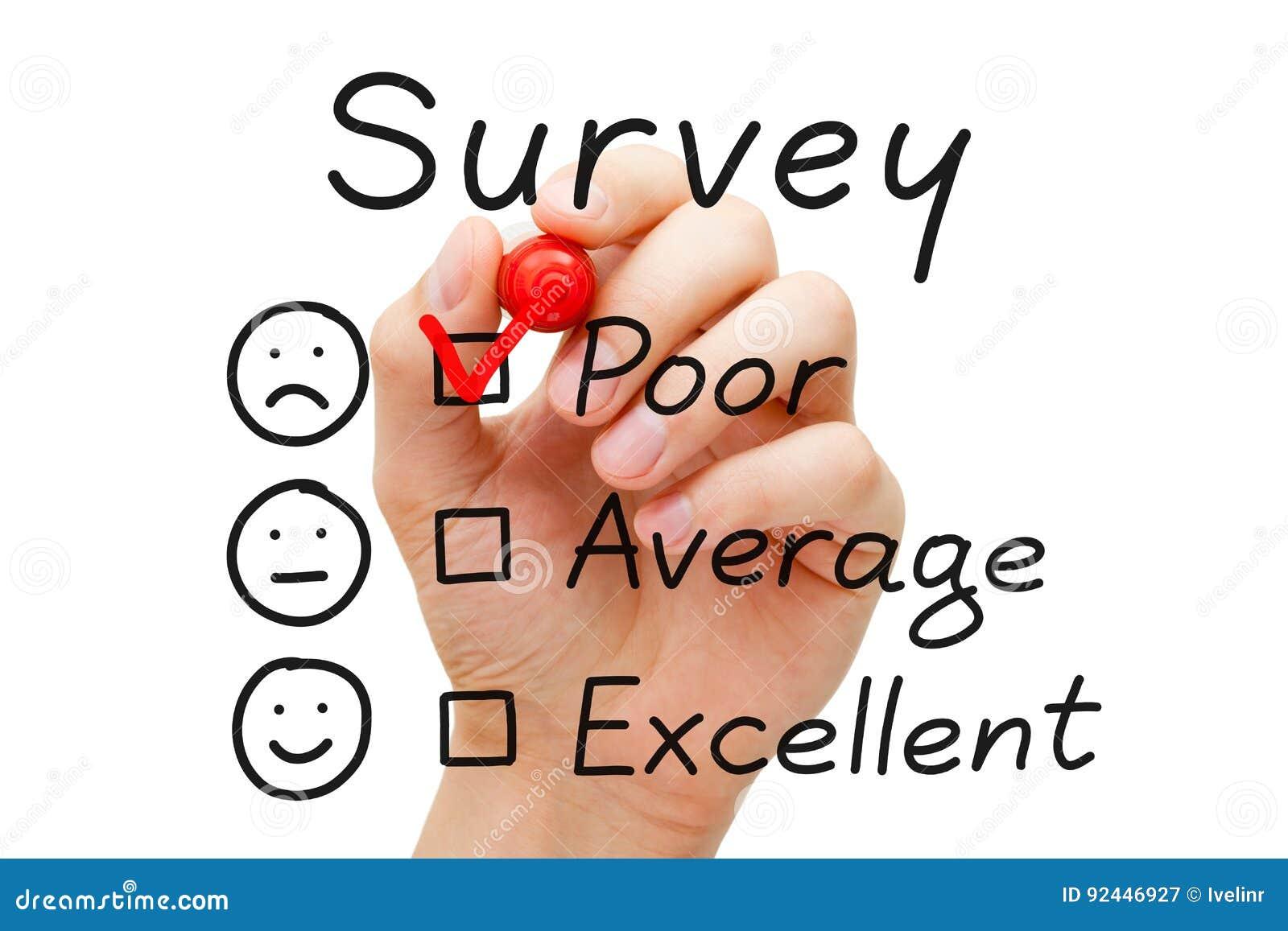 Evaluación de los pobres de la encuesta