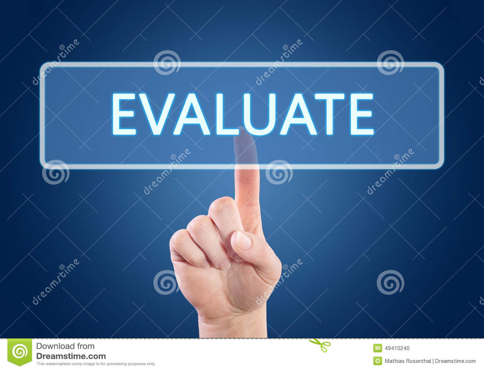 Download Evaluate stock abbildung. Illustration von text, feedback - 49410240