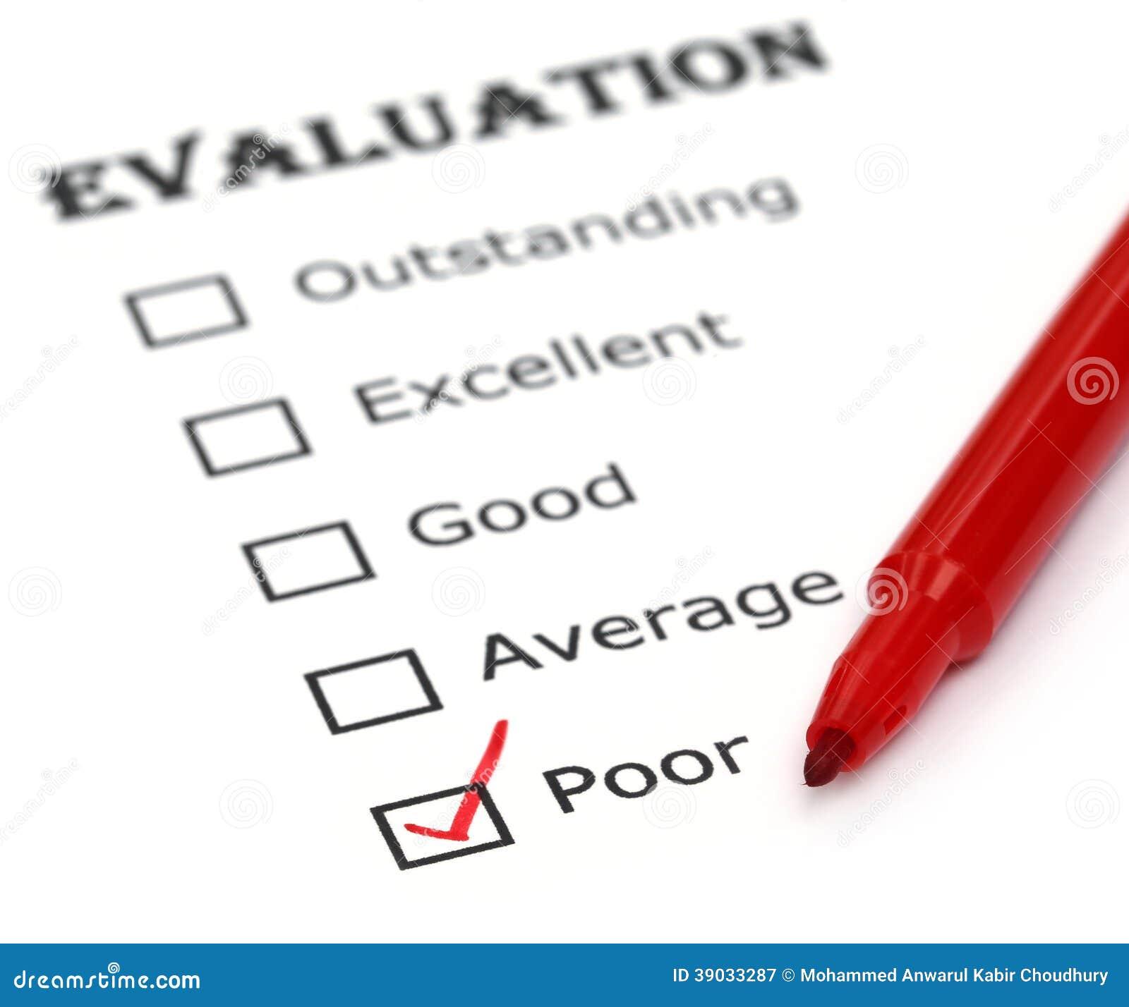 Evaluation Paper Stock Photo - Image: 39033287