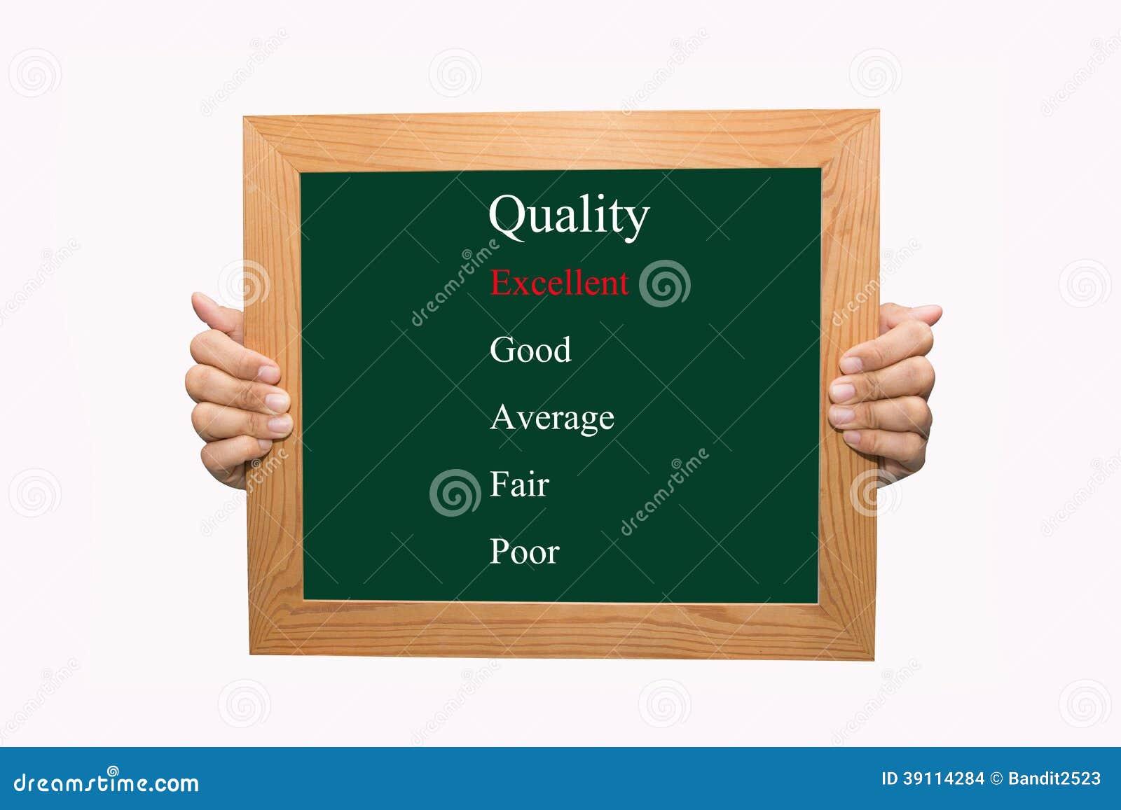 Evalueer uitstekende kwaliteit