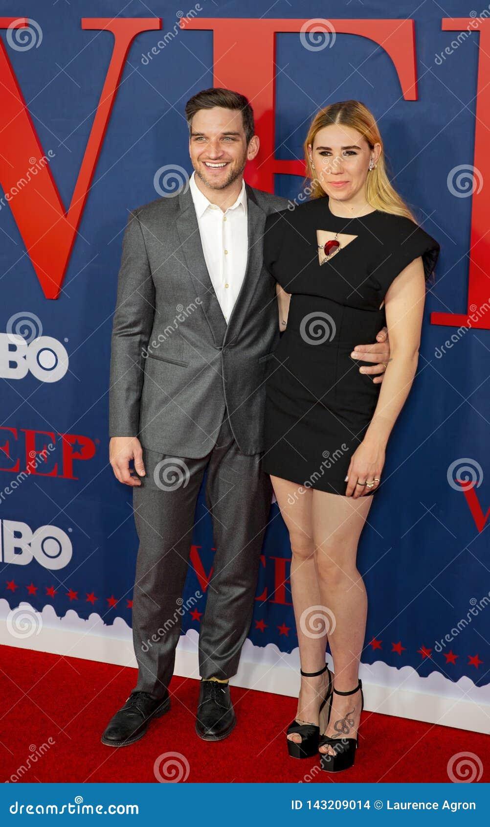 Evan Jonigkeit And Zosia Mamet At Premiere Of VEEP Final