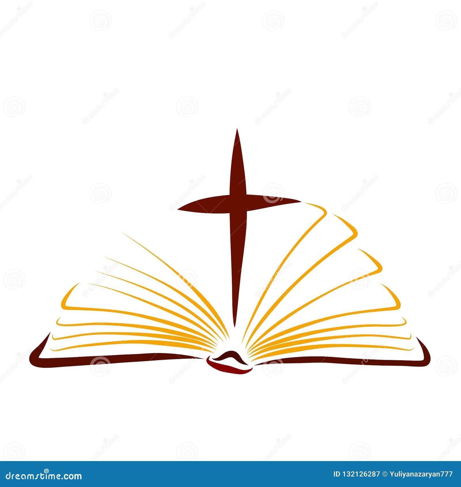 Evangelio Biblia Abierta Con La Cruz Entre Las Paginas Stock De Ilustracion Ilustracion De Entre Calculado 132126287
