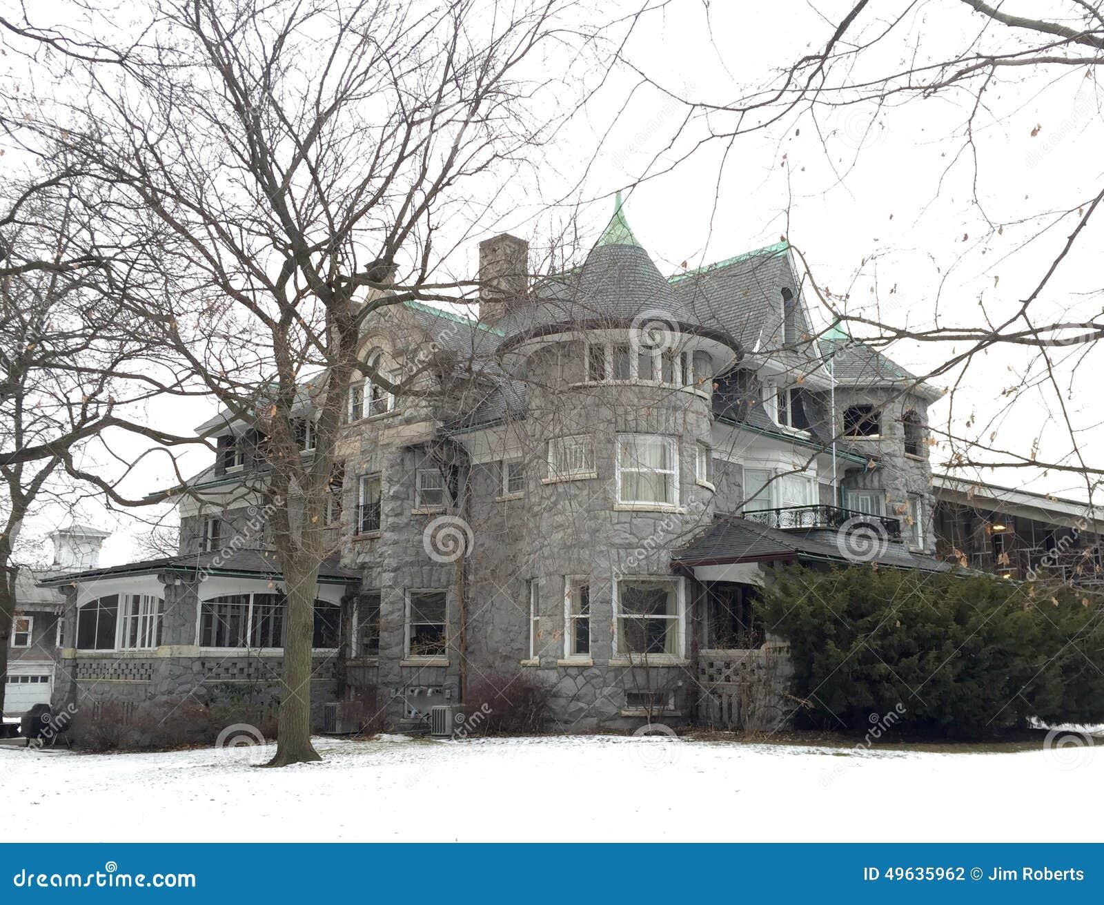 Evanston Stone Mansion Editorial Photography Image 49635962