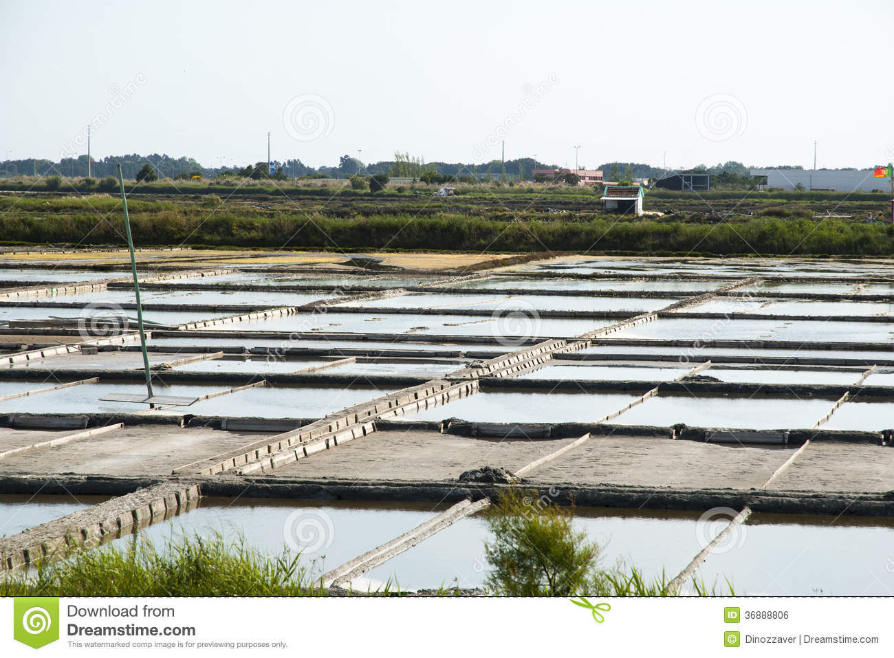 Evaporation ponds of salt farm portugal royalty free for Design of evaporation pond