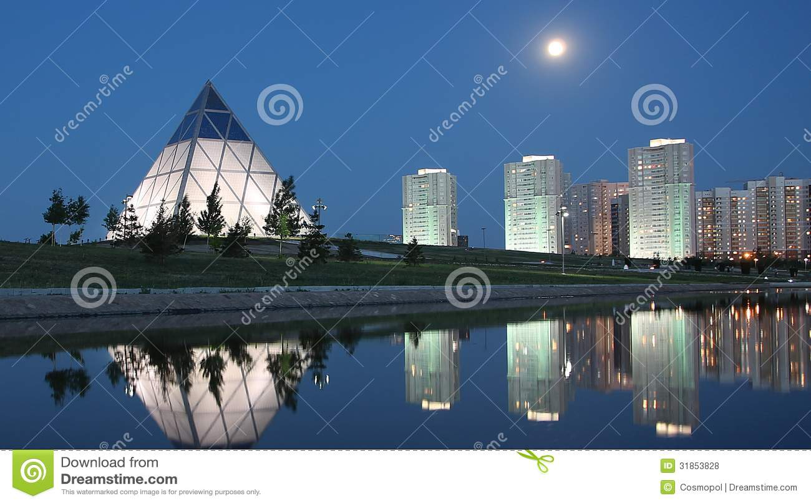 Evening in Astana Kazakhstan