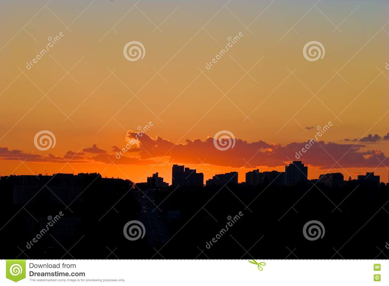 Evening City Sunset Picture Image 5058727