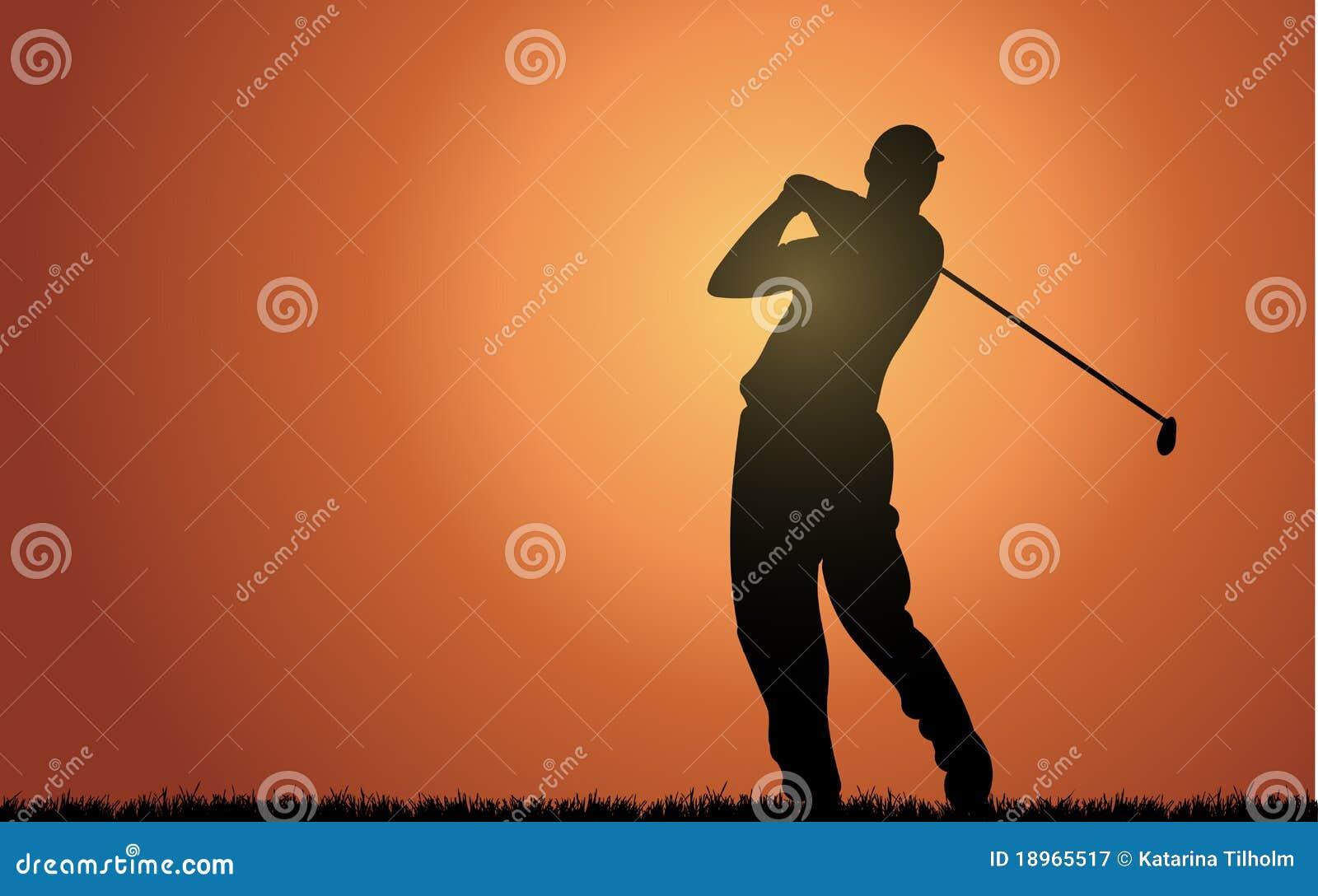 Evening golfer