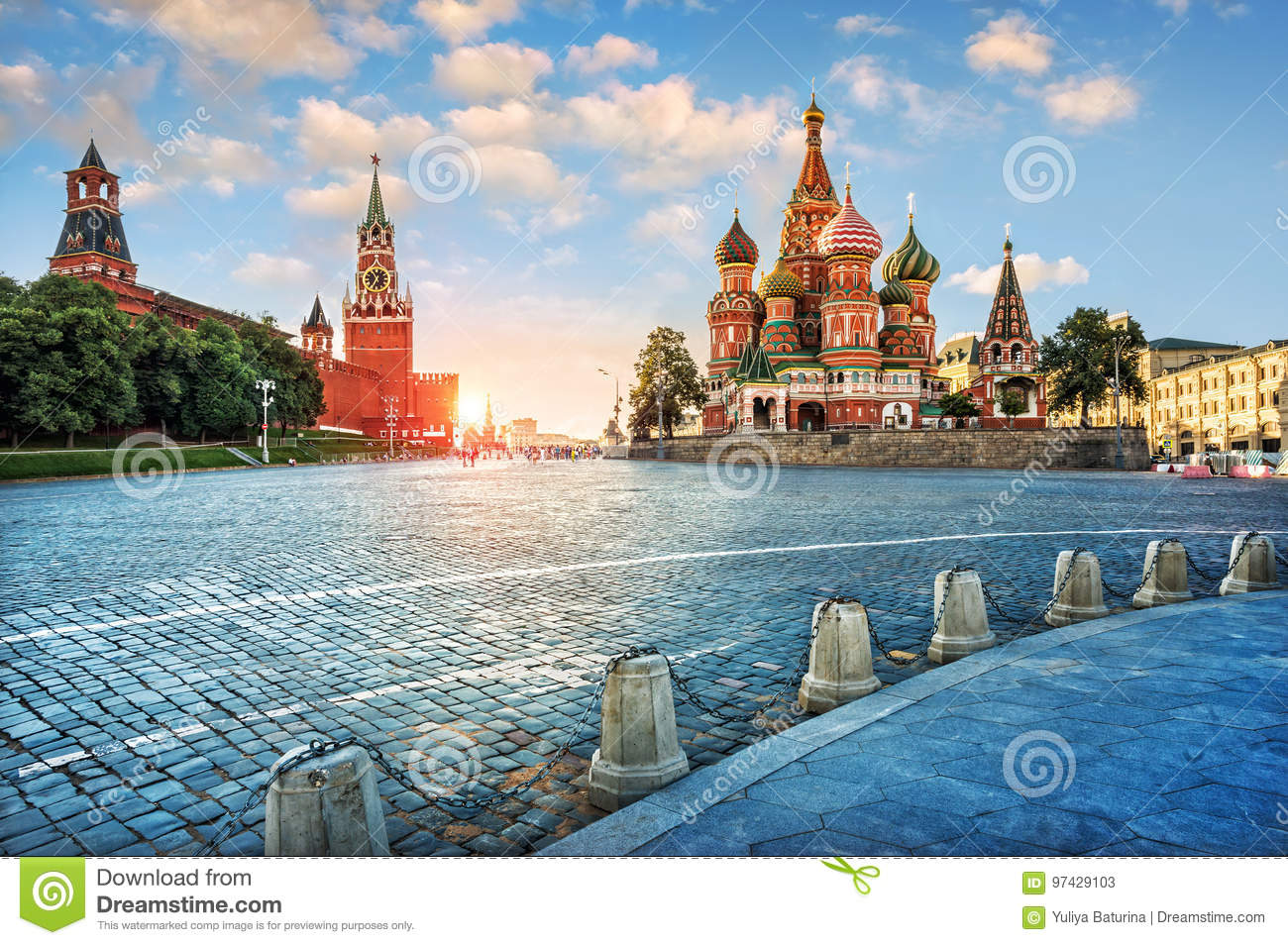 Evening light on Red Square