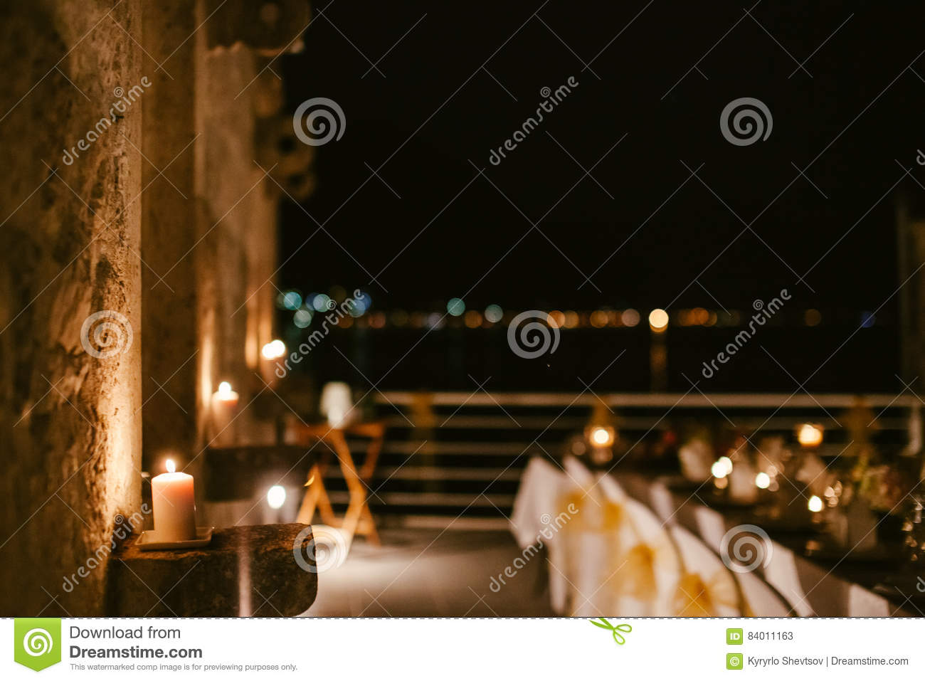 Evening restaurant party reception