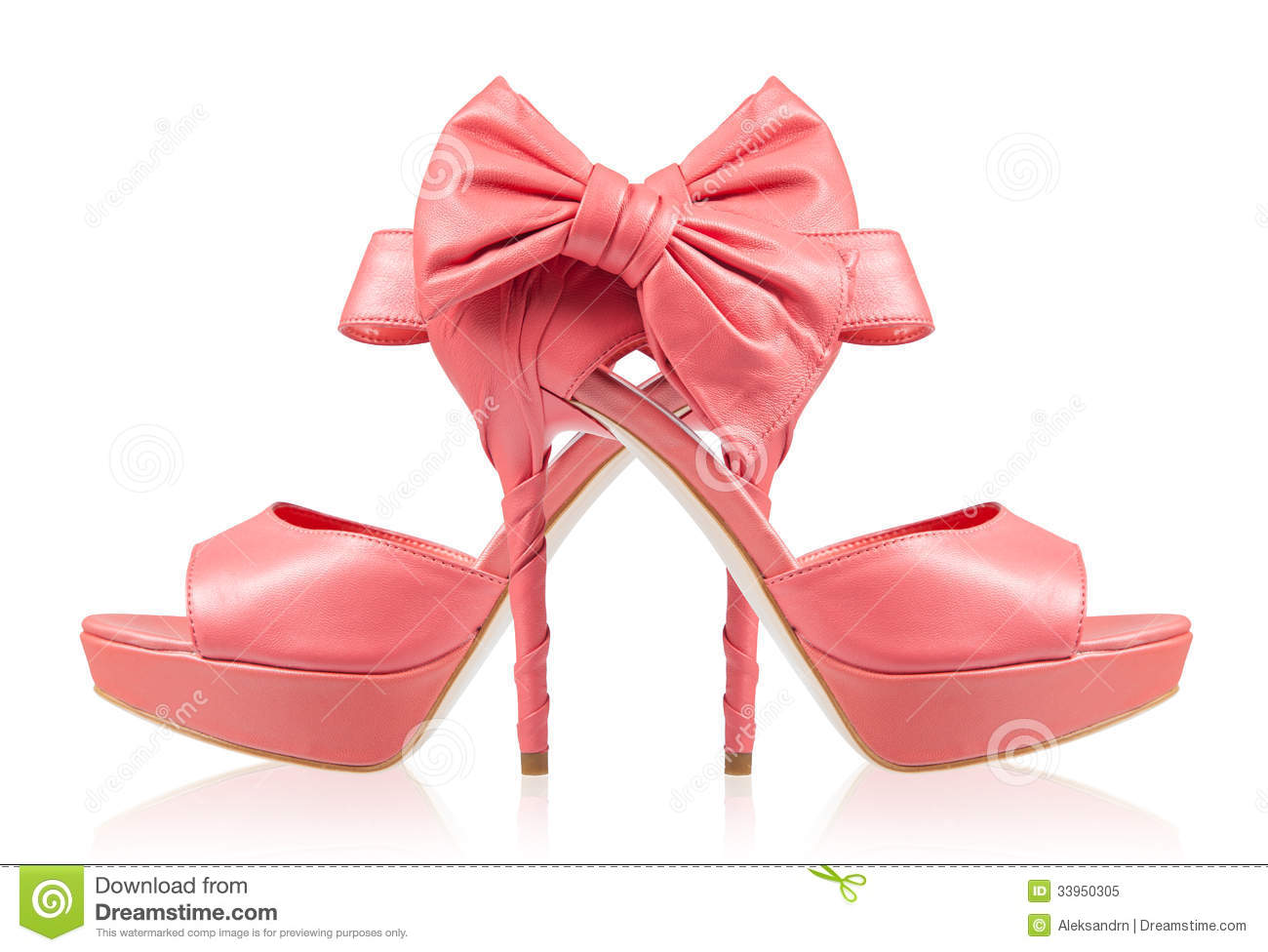 Pink Bow High Heels