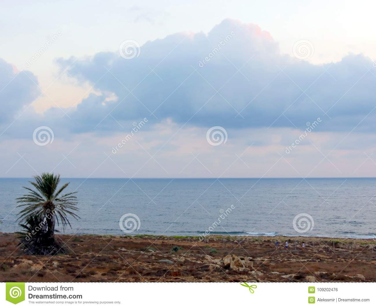 Evening sky above the coast of Cyprus