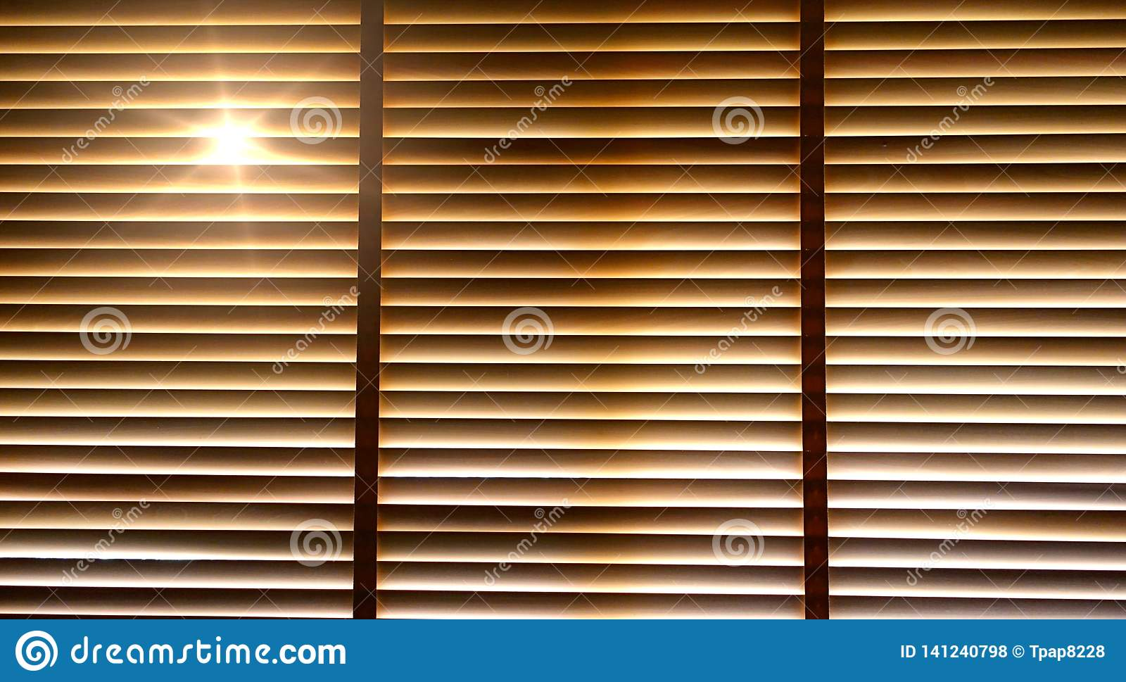 Blinds Evening Sun Light Outside Wooden Window Blinds Sunshine And Shadow On Window Blind Stock Photo Image Of Interior Blind 141240798
