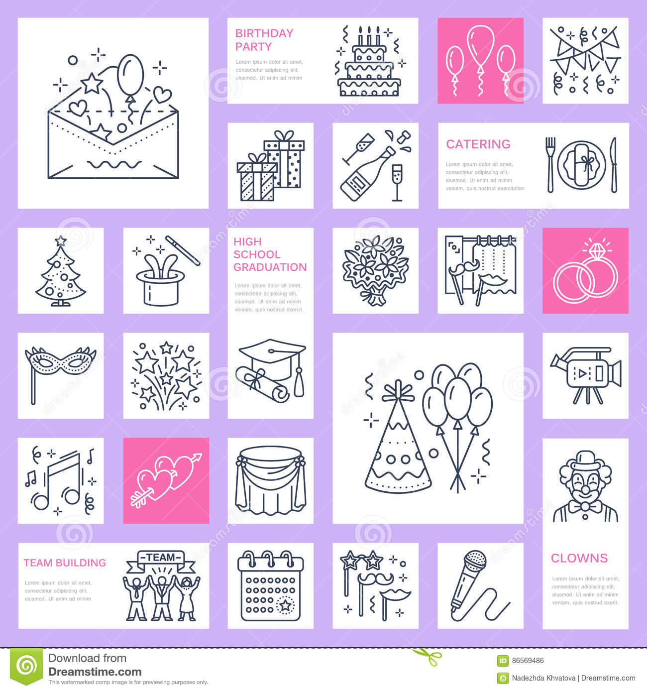Event agency wedding organization vector line icon party service download event agency wedding organization vector line icon party service catering birthday cake junglespirit Image collections
