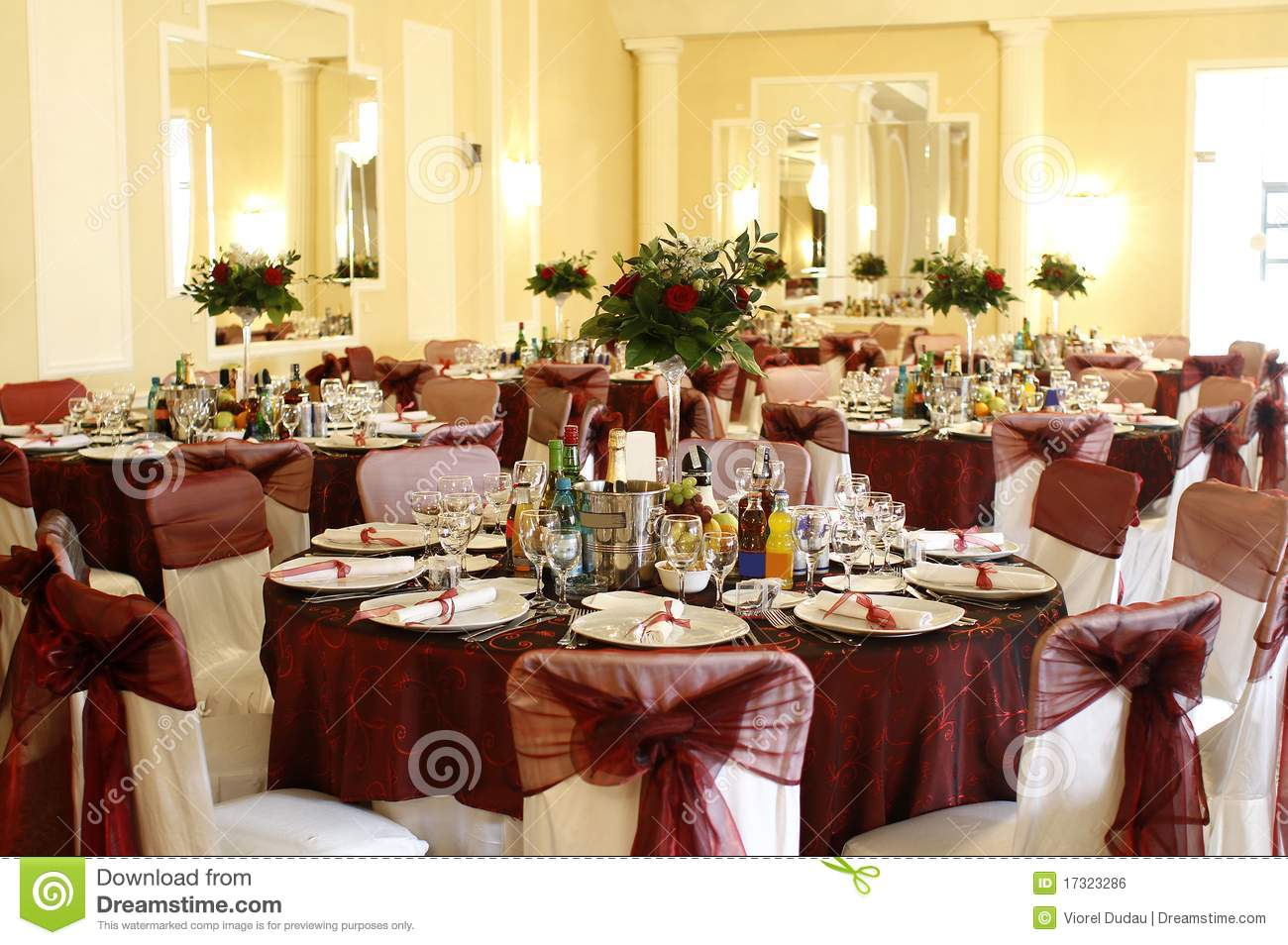 Event Party Or Wedding Ballroom Royalty Free Stock Image