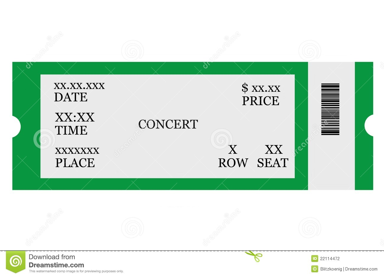 Event Ticket Stock Photography Image 22114472