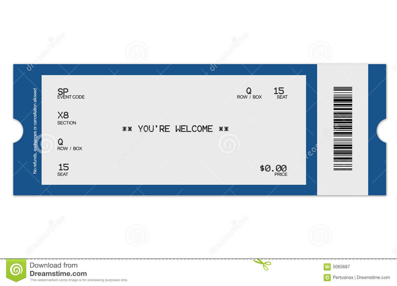Event Ticket  Event Ticket Template Free Download