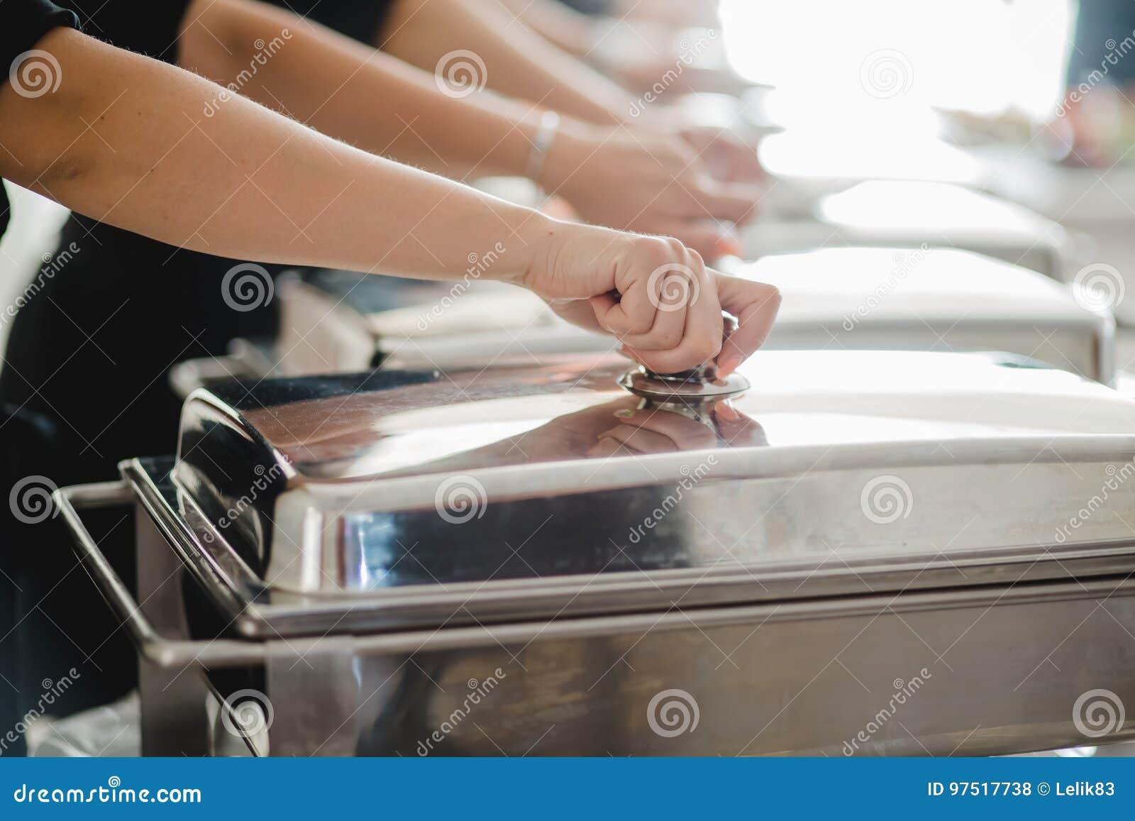 Evento de abastecimiento de la boda de la comida fría