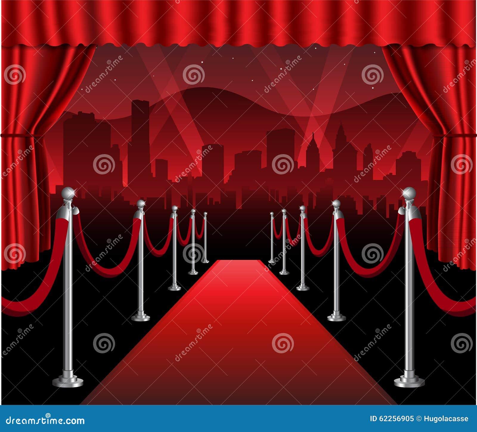 Evento elegante hollywood de la premier de la película de la alfombra roja