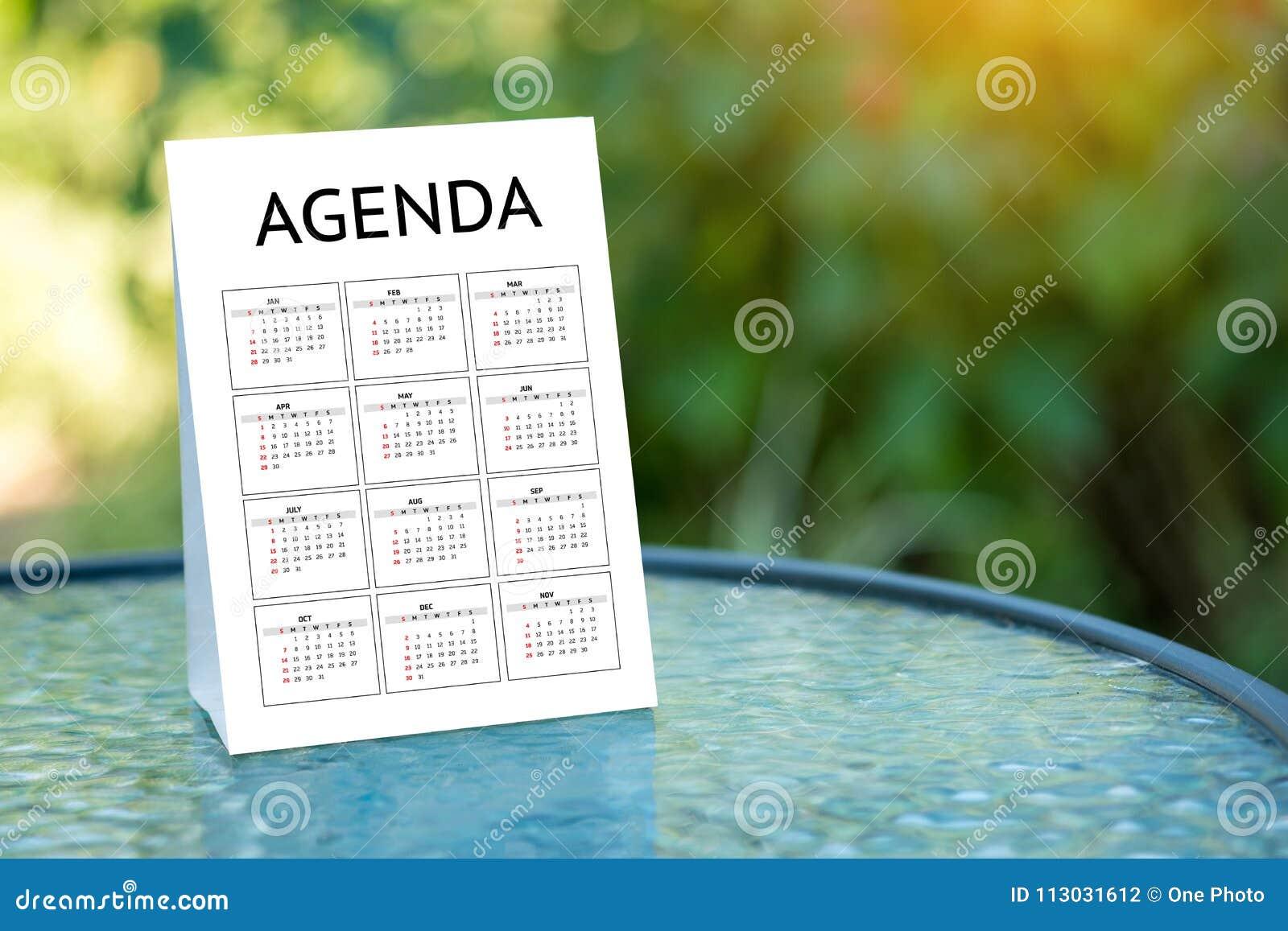 Eventos del calendario de la información de la actividad del orden del día y Appointm del encuentro