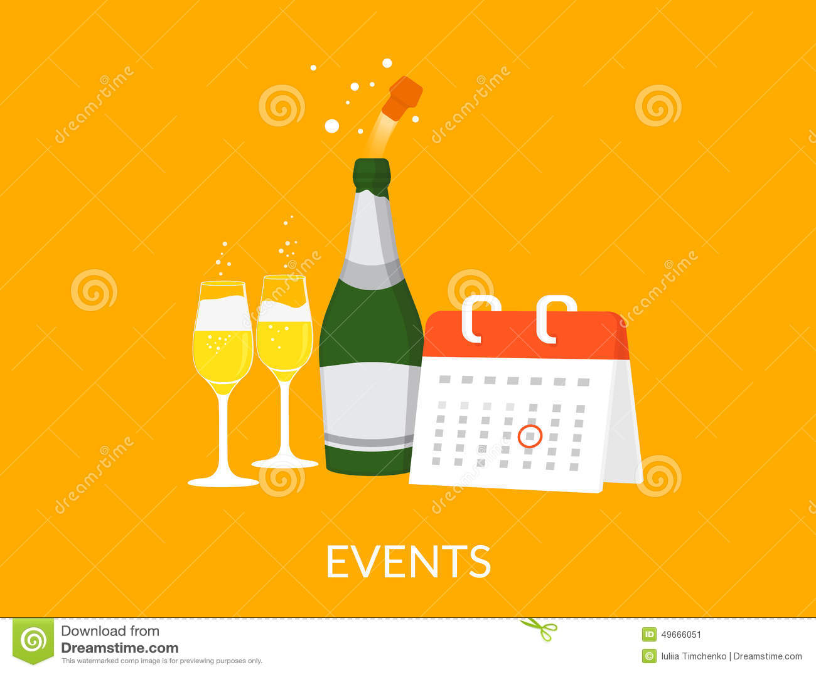 Event Calendar Illustration : Events illustration stock vector image