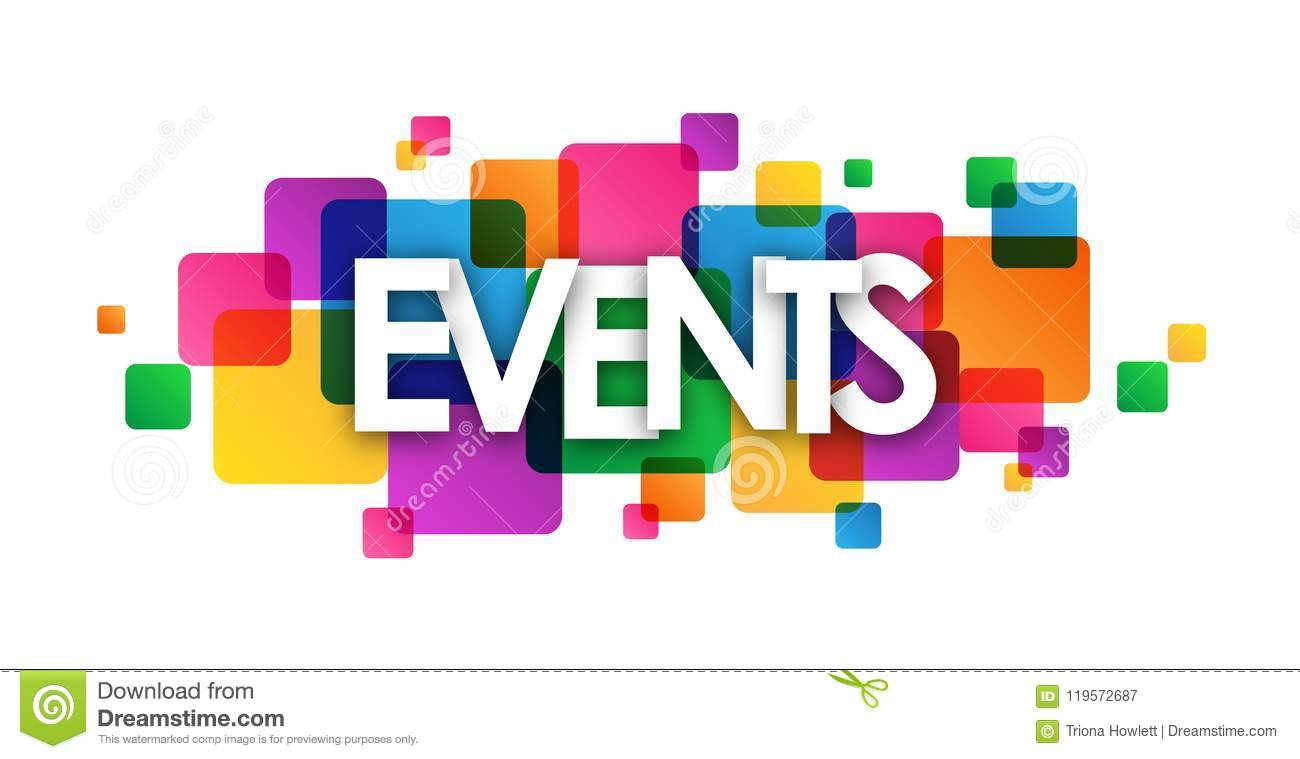 Events Colorful Overlapping Squares Banner Stock Illustration Illustration Of Coming 2019 119572687