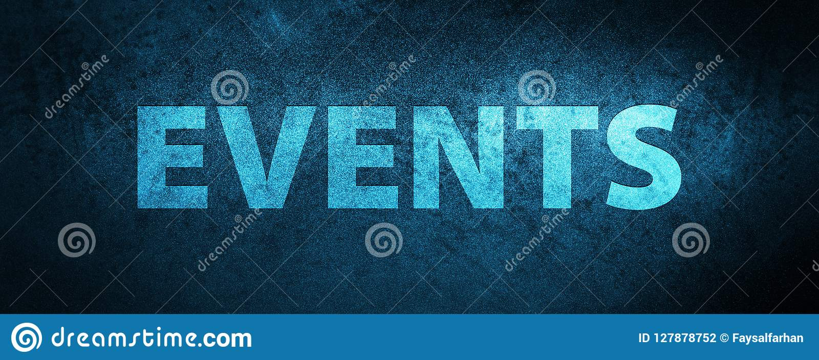 Events Special Blue Banner Background Stock Illustration Illustration Of Background Word 127878752