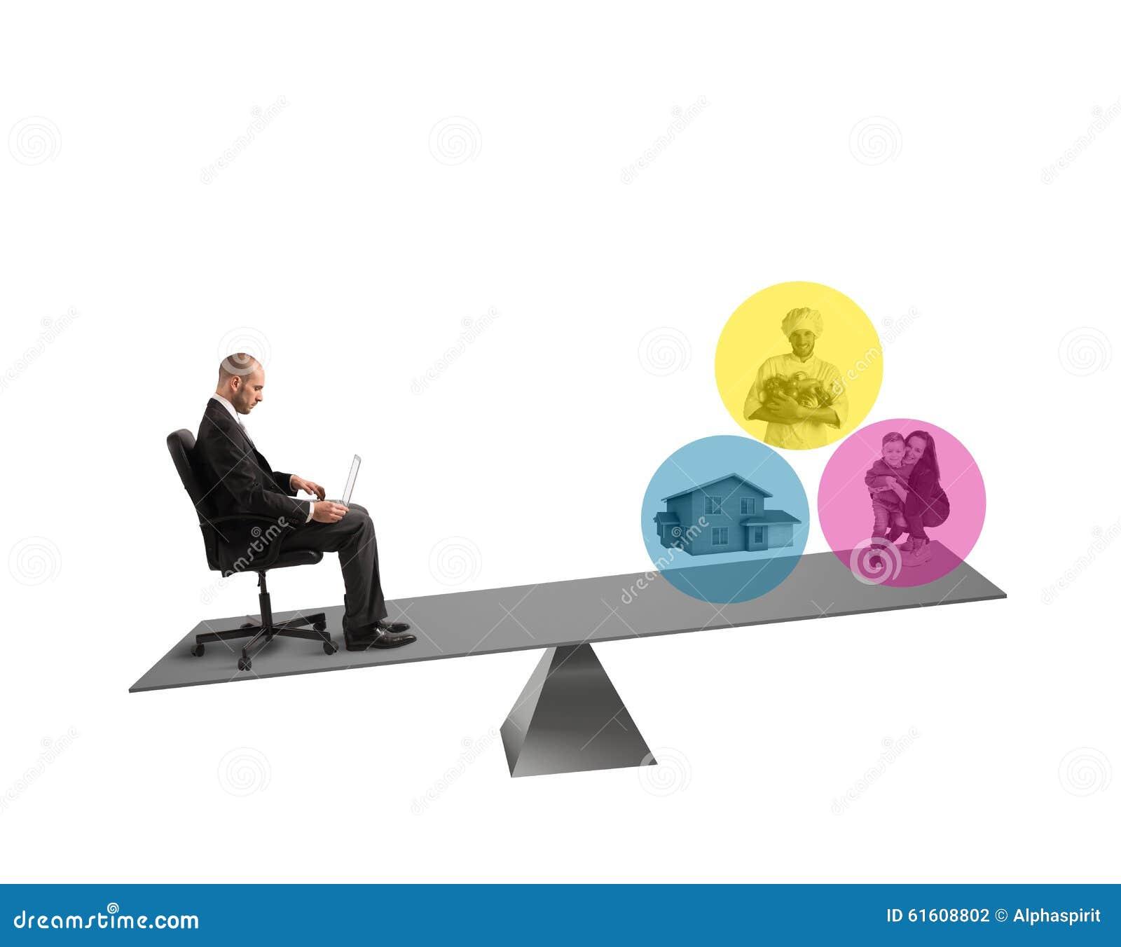 Evenwicht tussen het werk en het leven stock foto afbeelding 61608802 - Kaart evenwicht tussen werk en ...