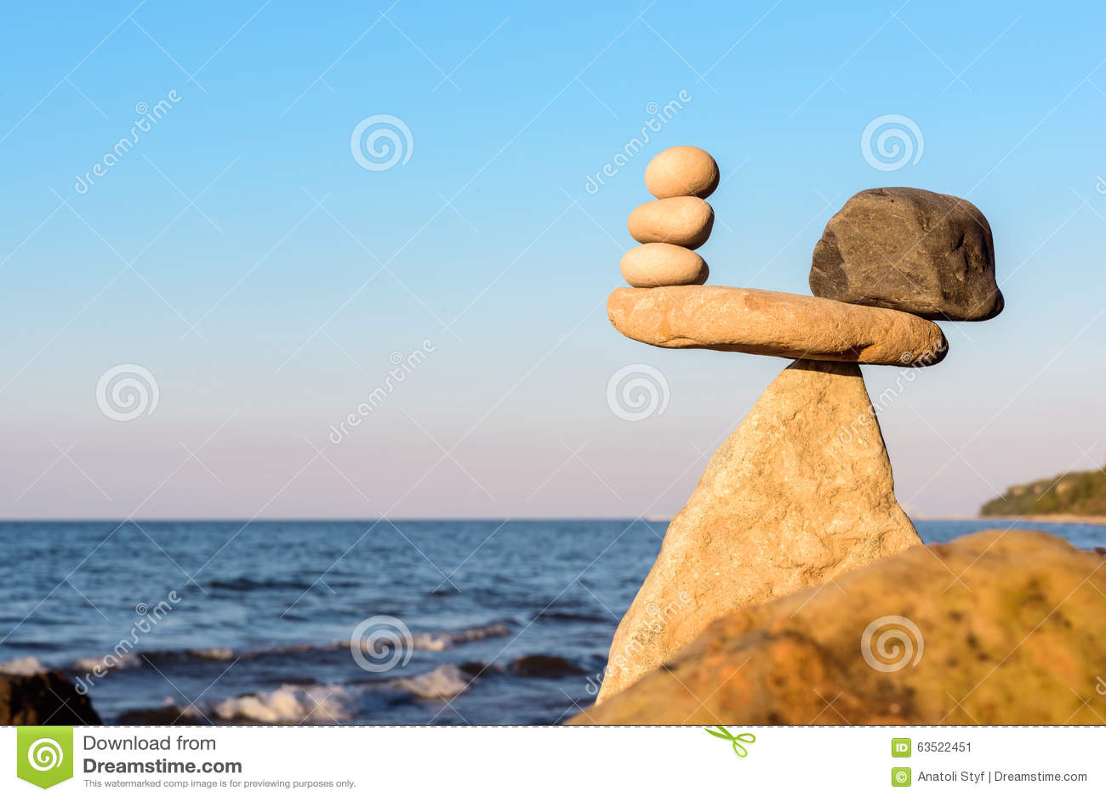 Evenwichtig van stenen