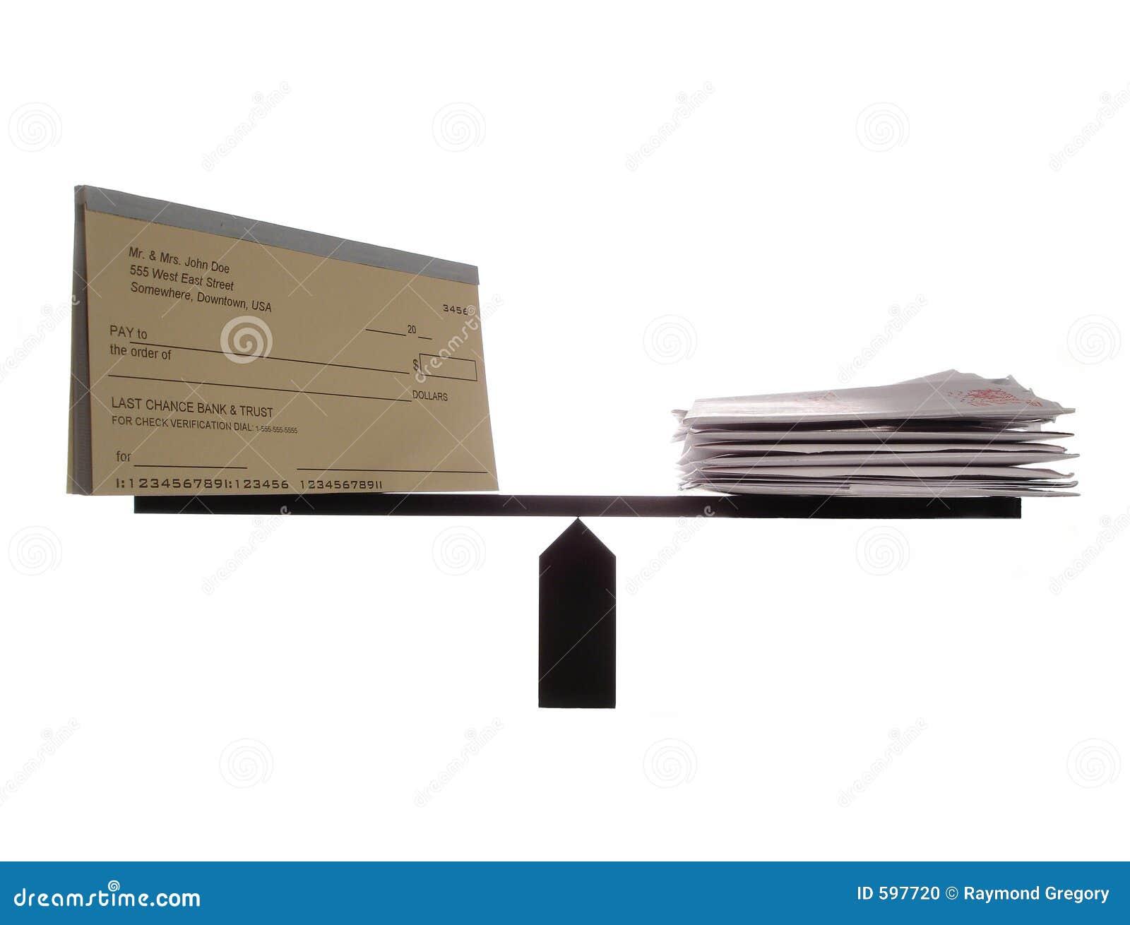 Evenwichtige Checkbook en Rekeningen