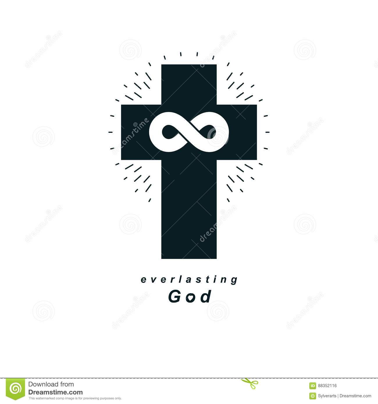 Everlasting God Vector Creative Symbol Design Combined With Infi