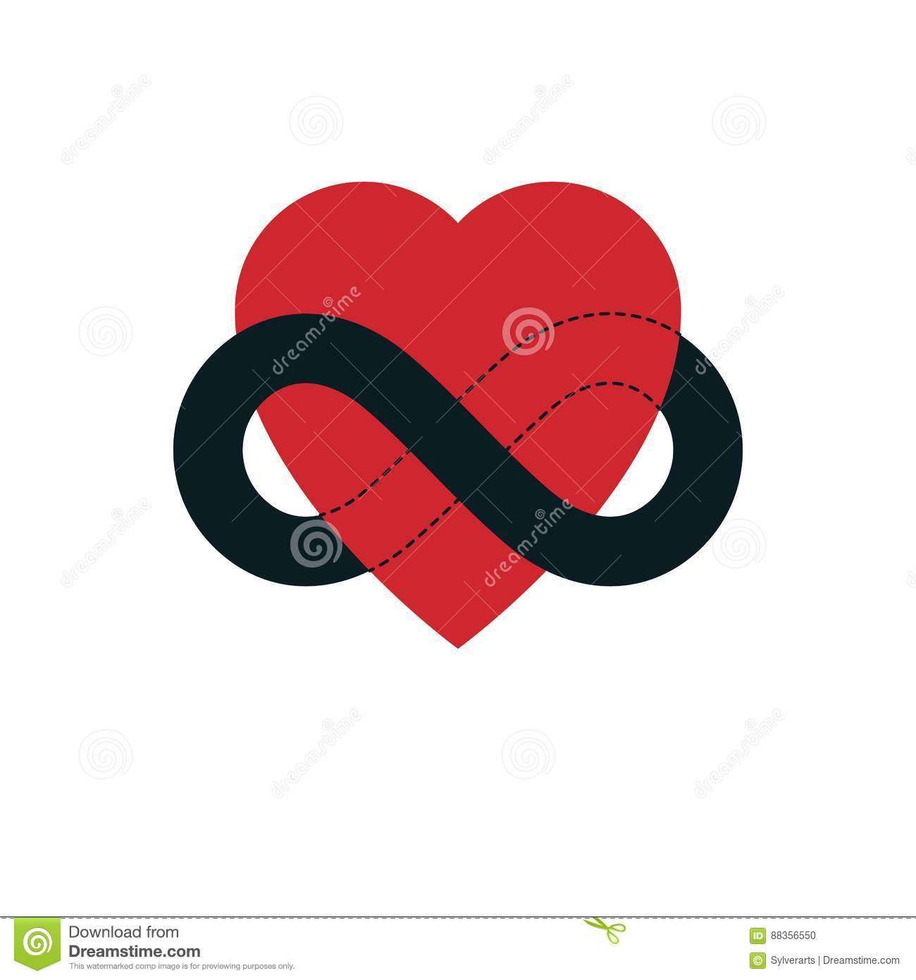 Everlasting Love Concept Vector Symbol Created With Infinity Lo