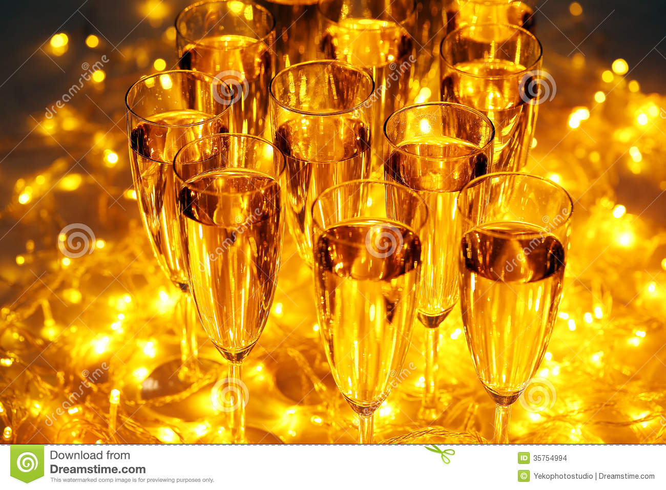 Every Celebration Party Drinks Always Include Champagne Stock Images ...