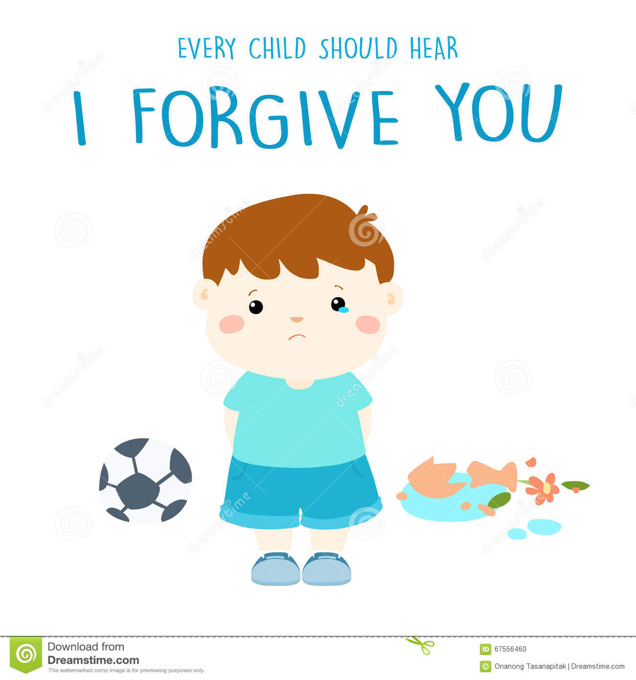 Every Child Should Hear I Forgive You Stock Vector Illustration Of Pain Illustration 67556460