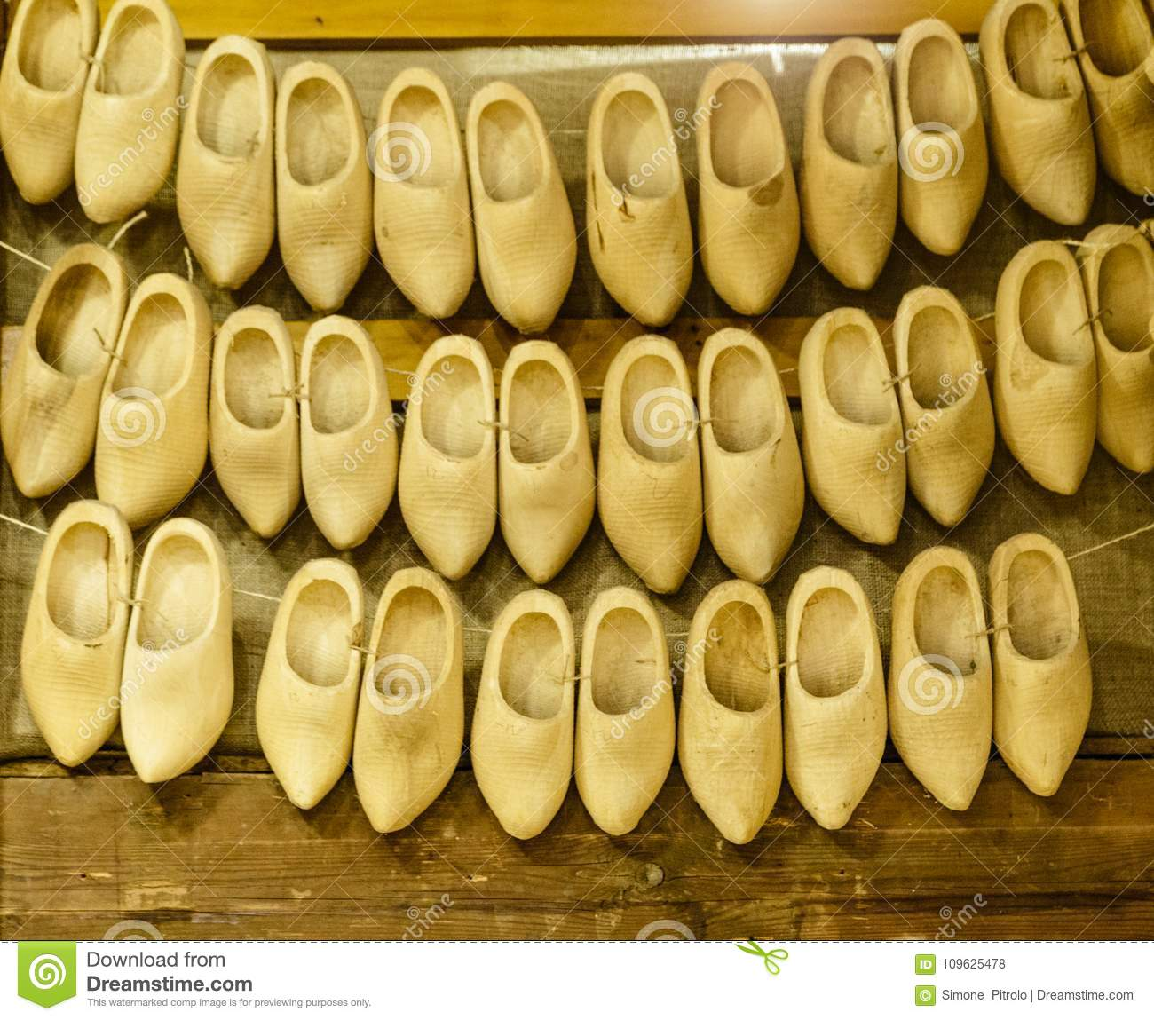 Wooden Shoes, Clogs, Typican Dutch Shoes, Amsterdam