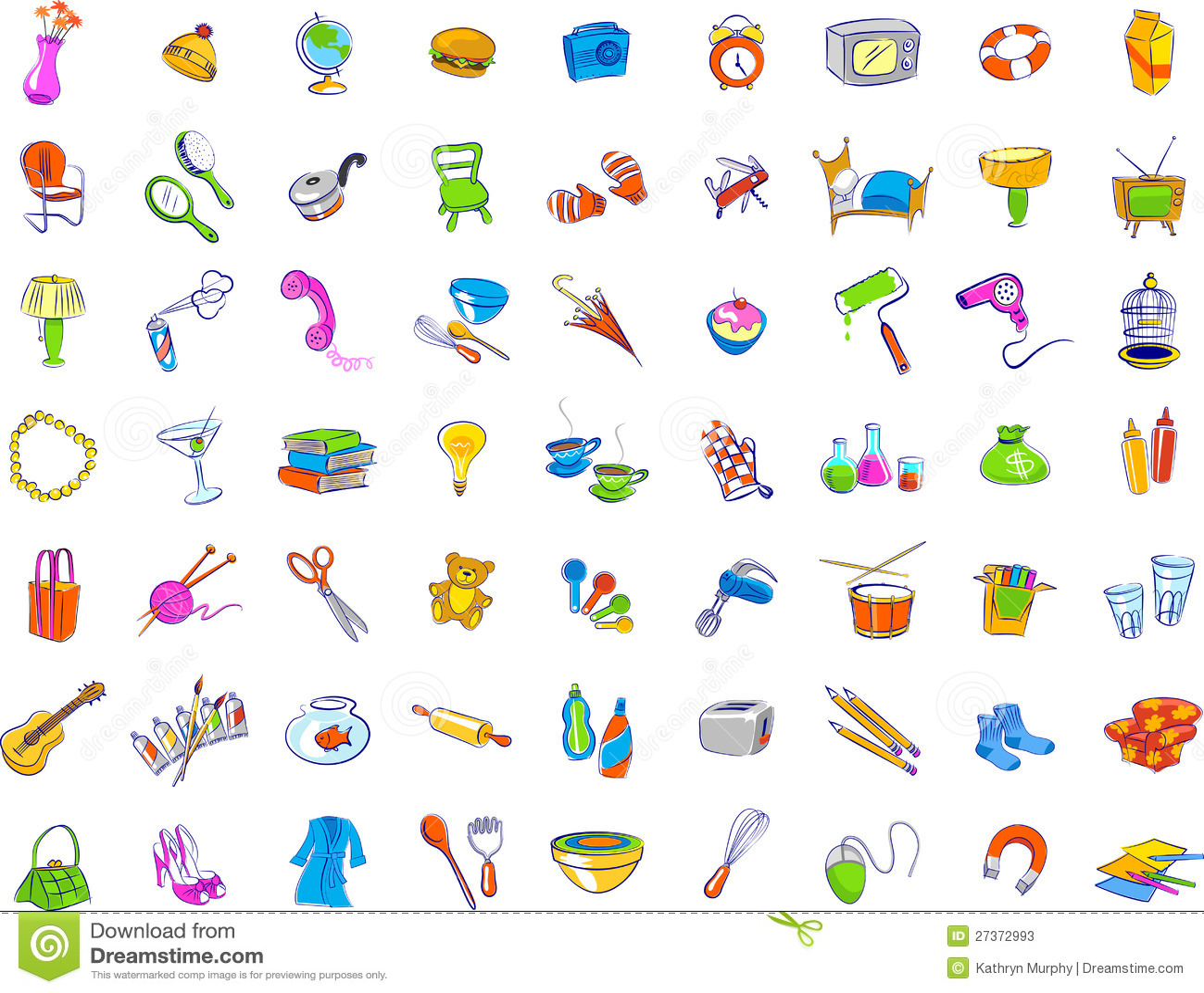Bathroom Designers Everyday Objects Icons Stock Photos Image 27372993