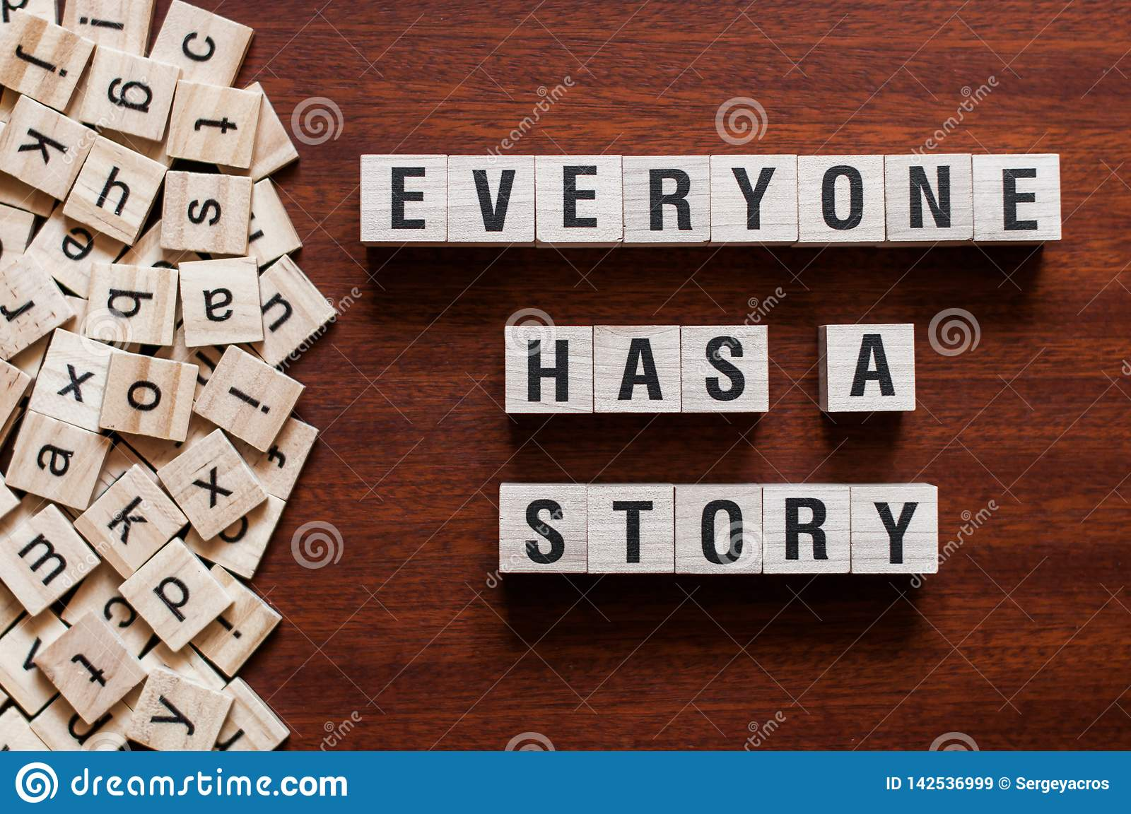 Everyone Has A Story word concept