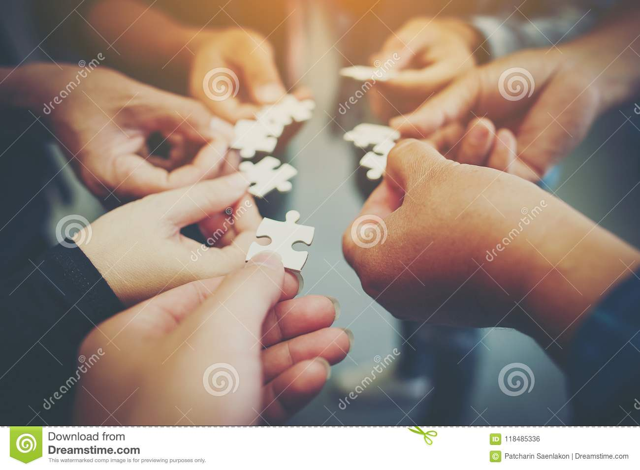 Everyone is an important jigsaw at work.
