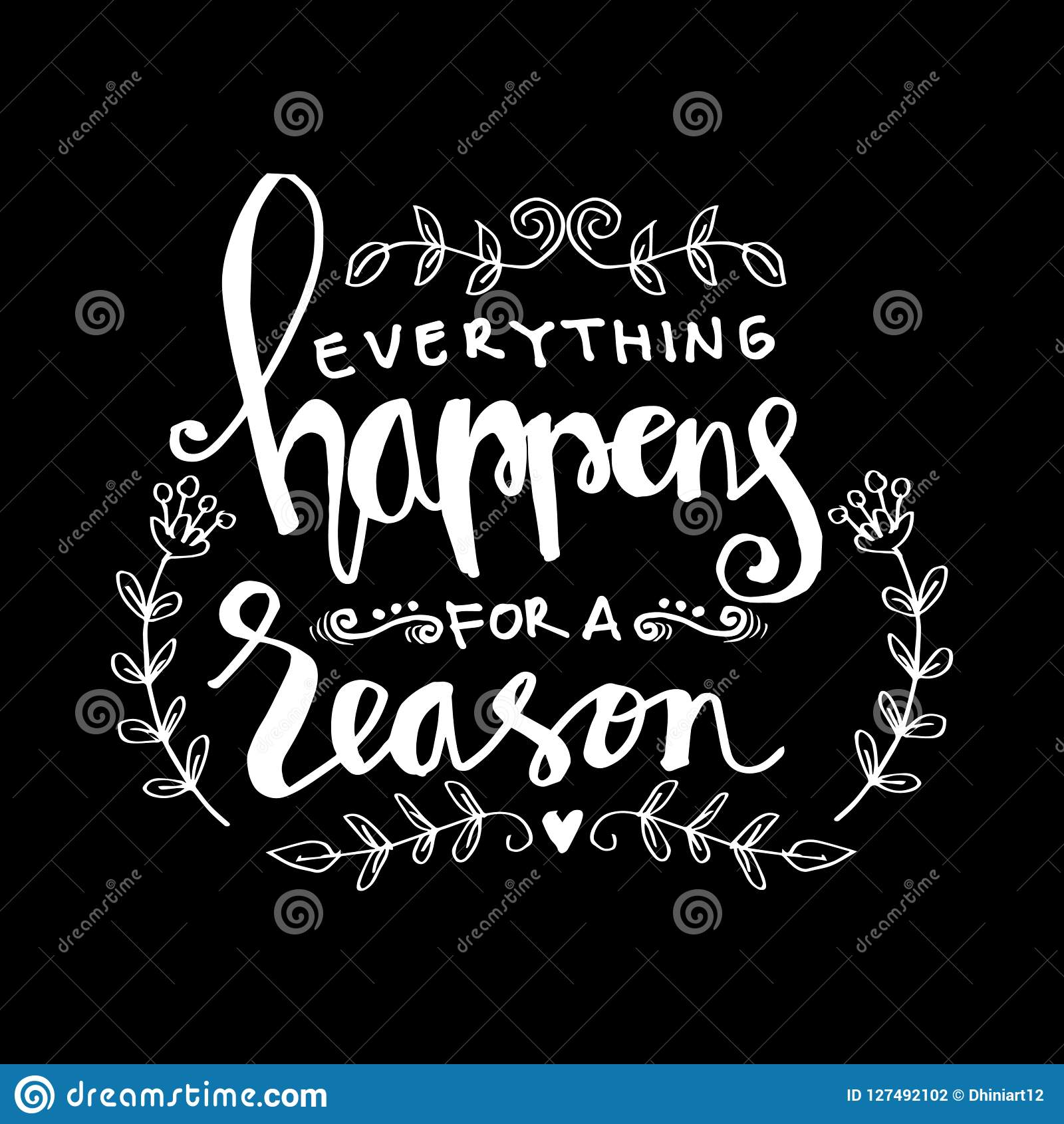 Everything Happens For A Reason Stock Illustration Illustration