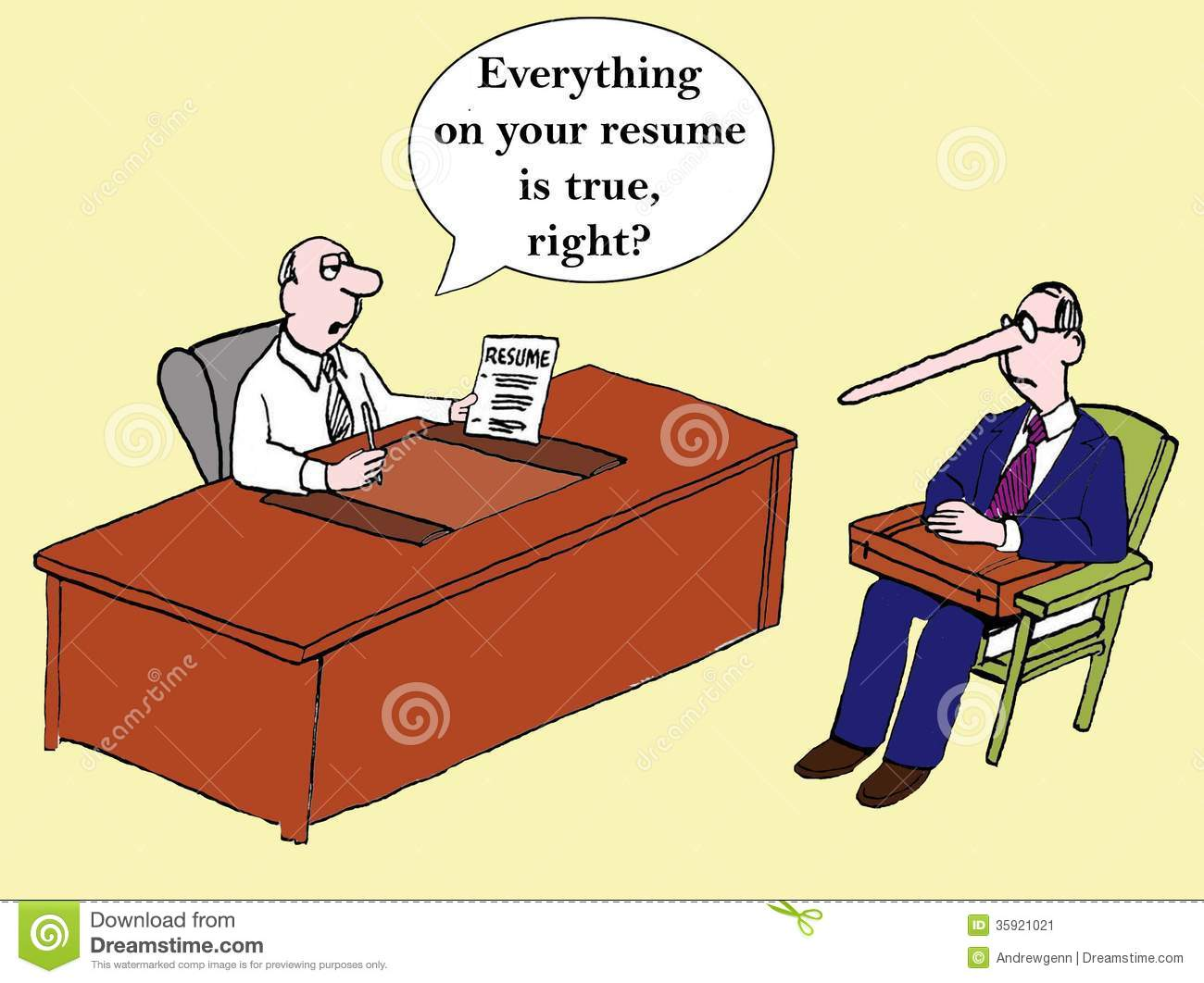 Everything On The Resume Is True Right Stock Image Image