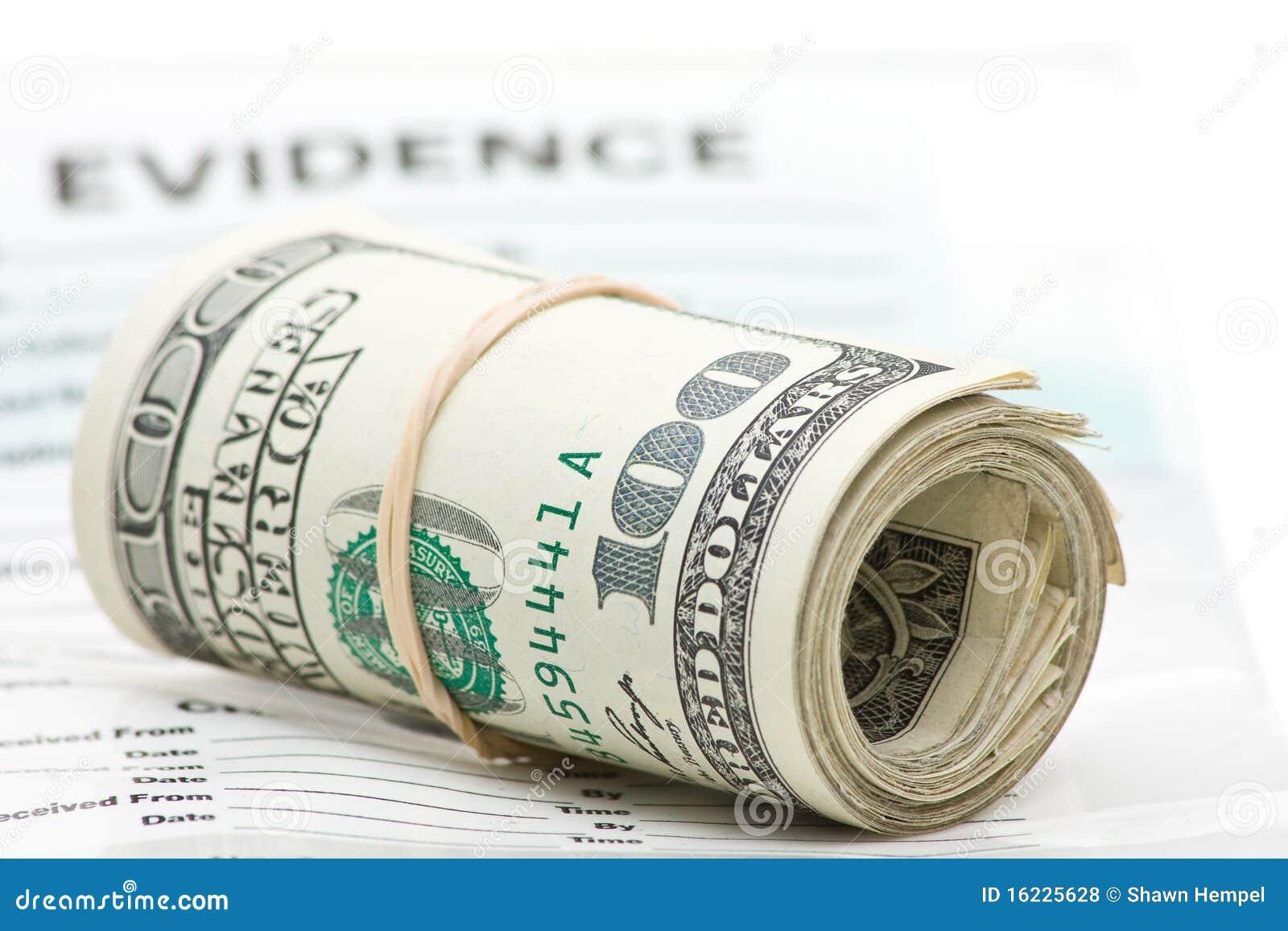 Evidencia del dinero