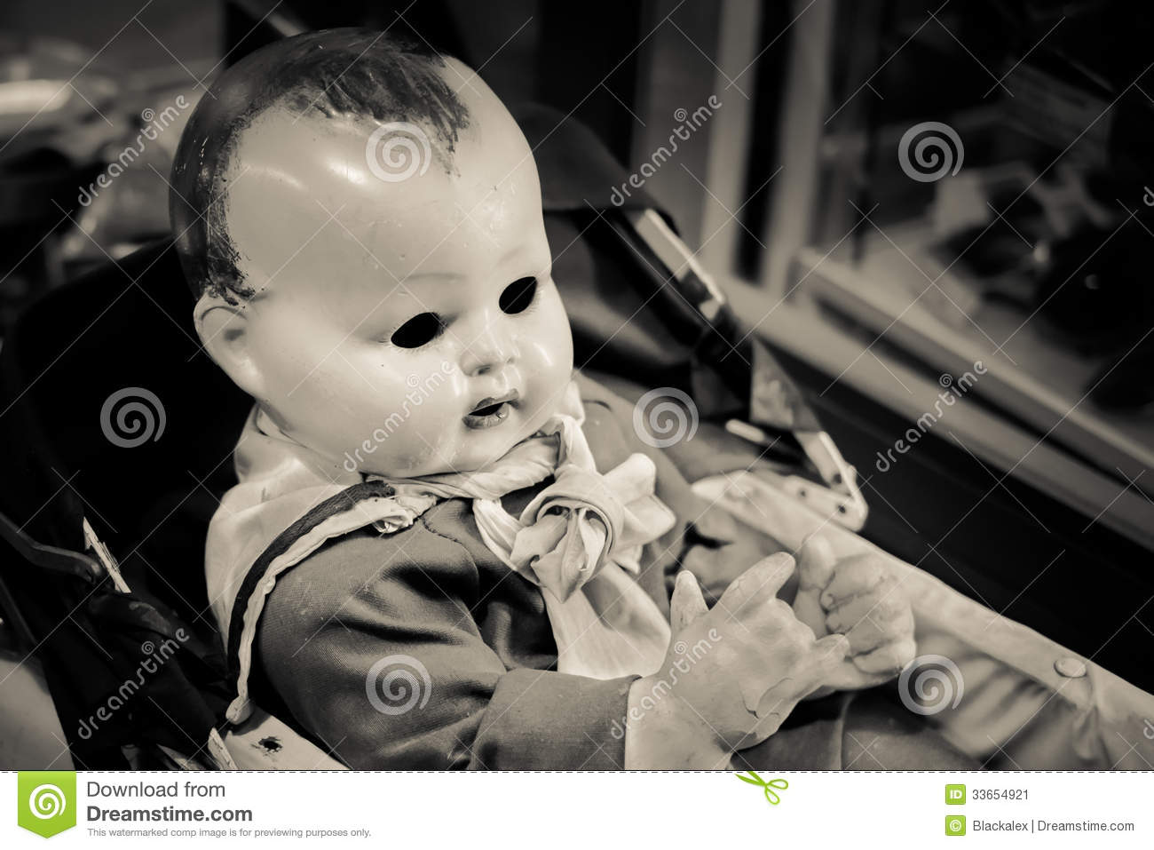 Evil Baby Doll Stock Image - Image: 33654921