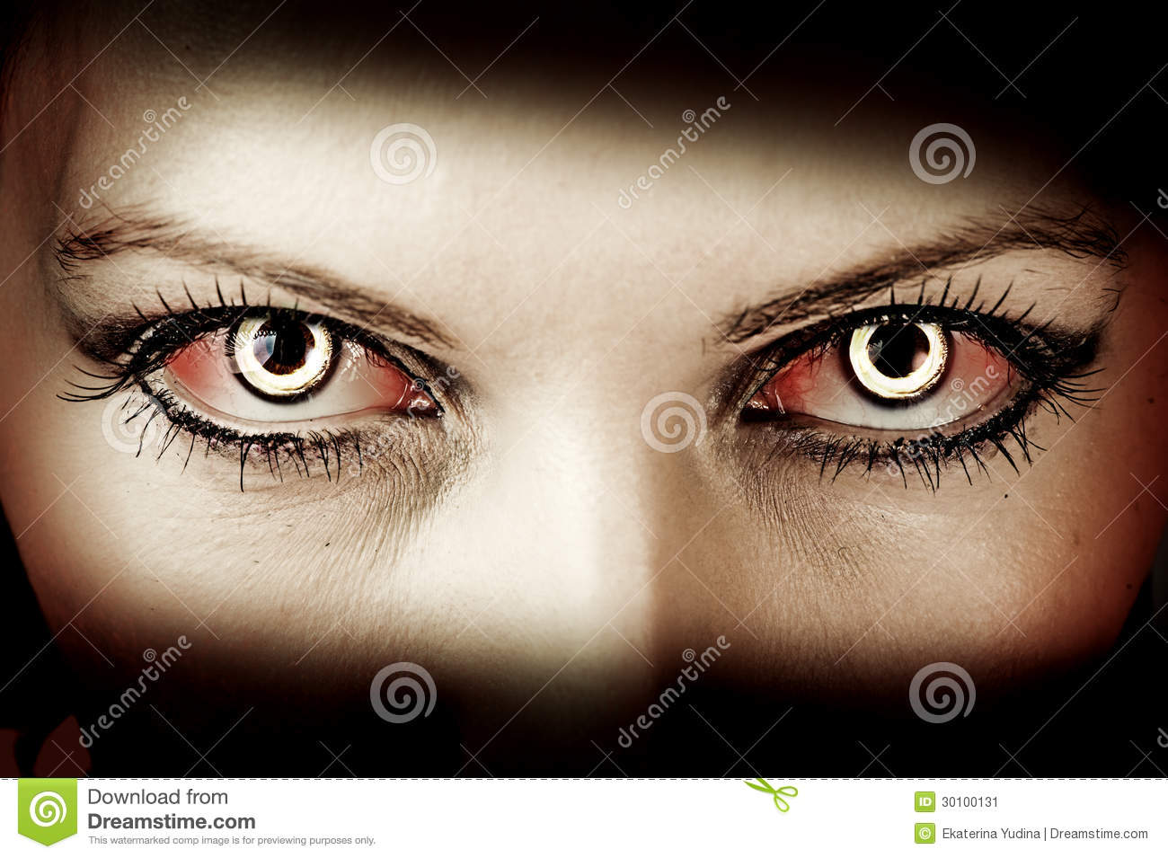 Evil Zombie Eyes Stock Image Image Of Dirt Hell Demon 30100131