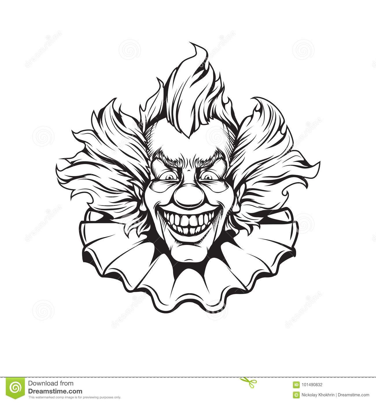 Scary Clown Coloring Pages Printable Skull Coloring Pages