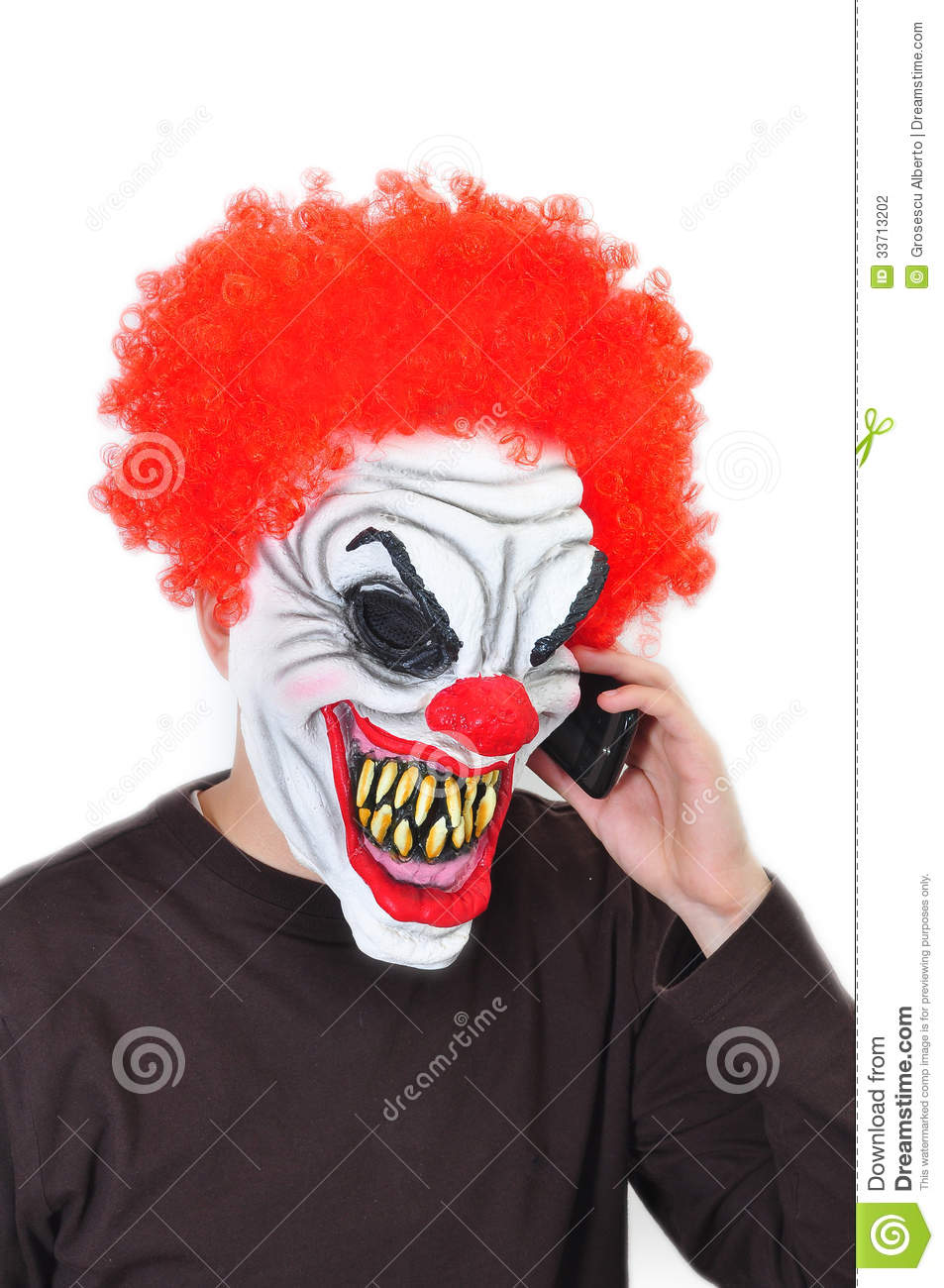 evil clown stock photography image 33713202