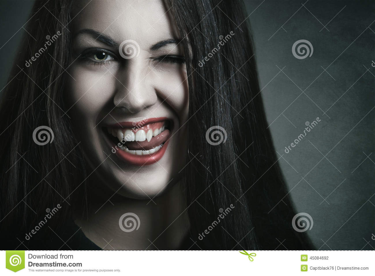 Evil Expression On Vampire Face Stock Photo - Image: 45084692