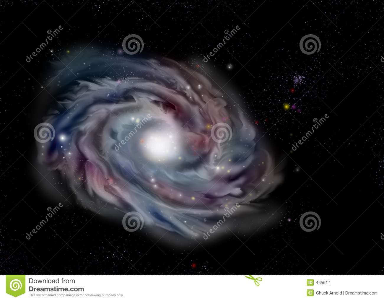 Download Evil Eye Galaxy stock illustration. Illustration of pluto - 465617