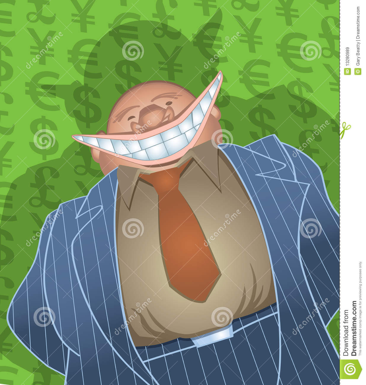 Evil Fat Banker Royalty Free Stock Images - Image: 13280989