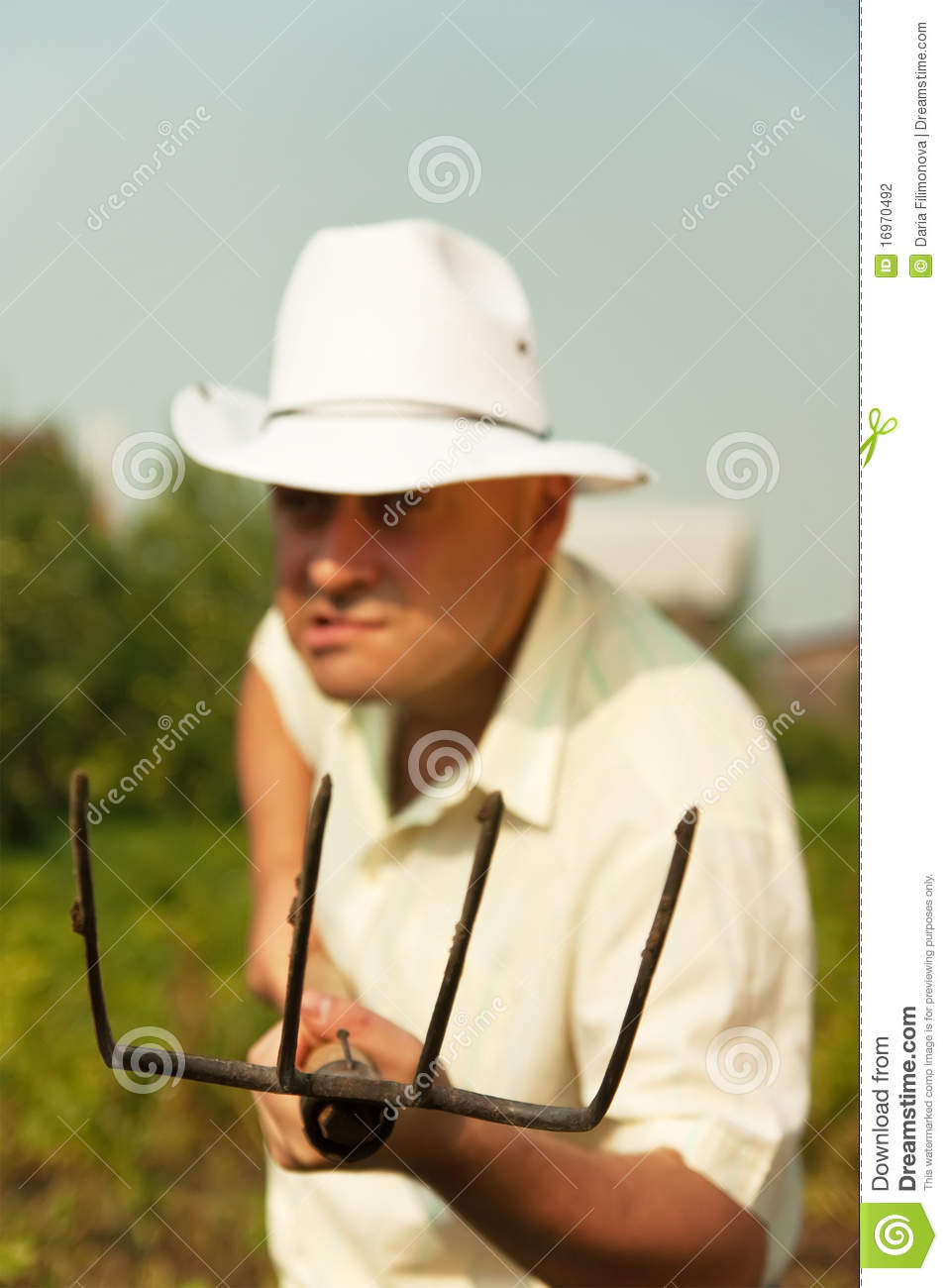 Evil Gardener Stock Photo Image Of Shirt Caucasian