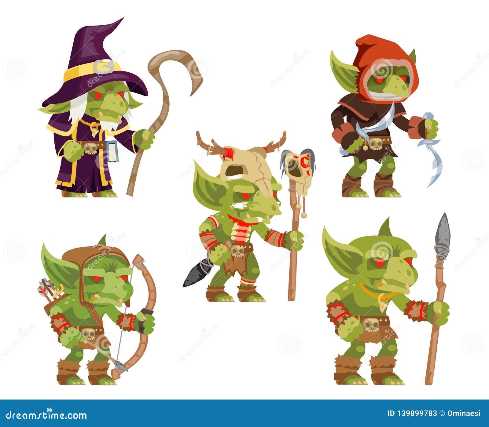 Evil Goblins Pack Dungeon Dark Wood Tribe Monster Minion